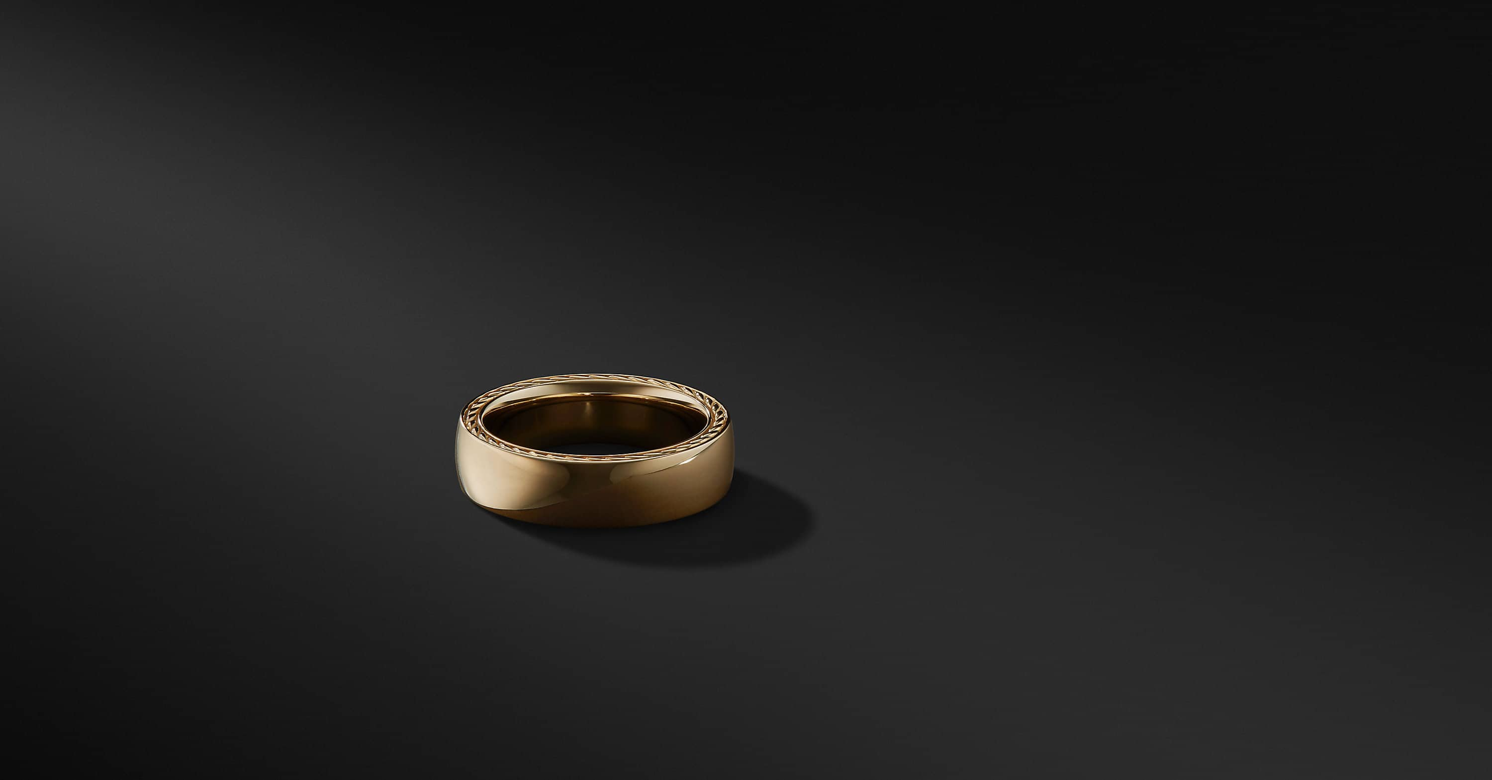 Streamline Band in 18K Gold, 6mm