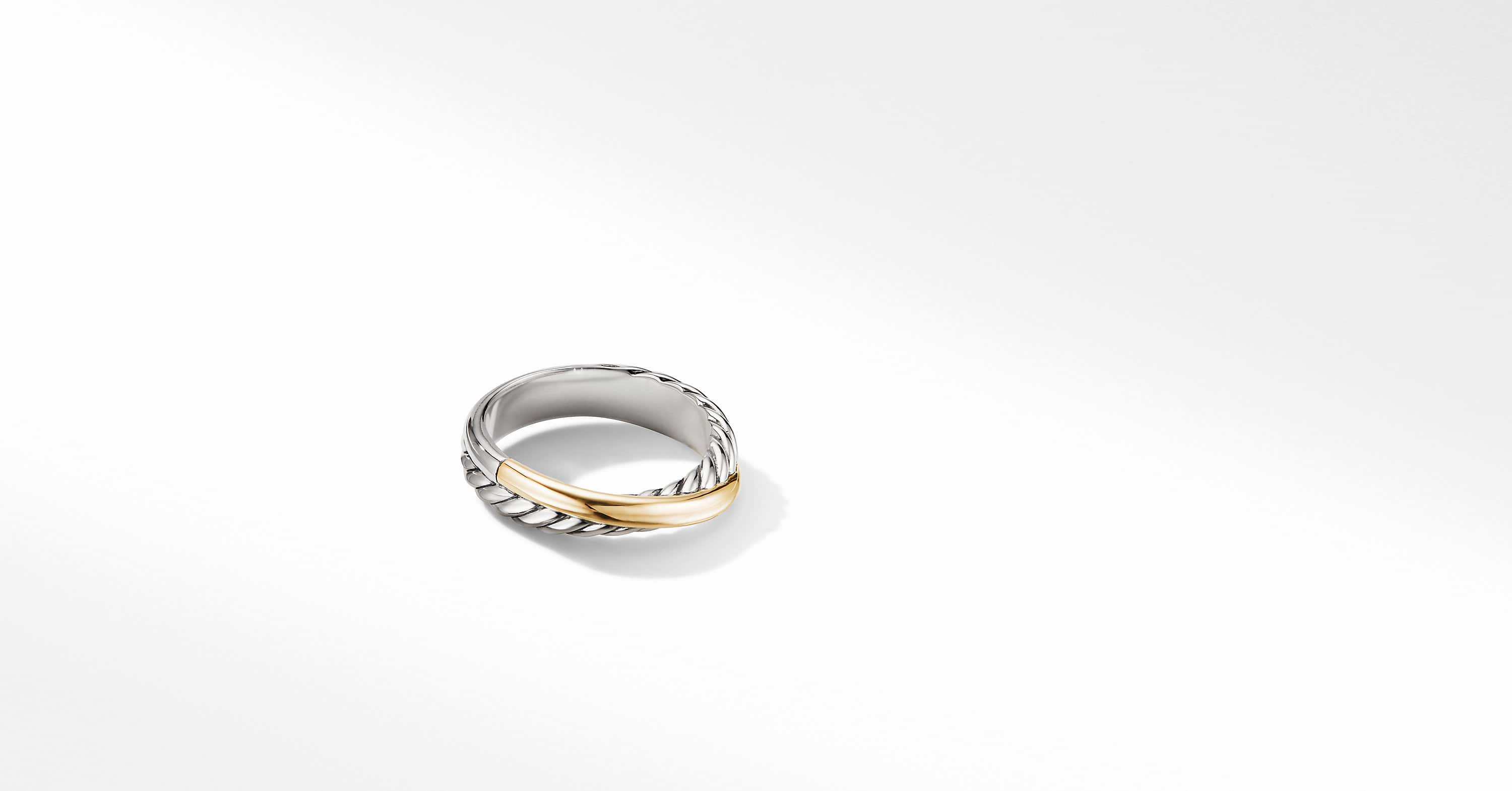 The Crossover Collection Ring with 18K Yellow Gold