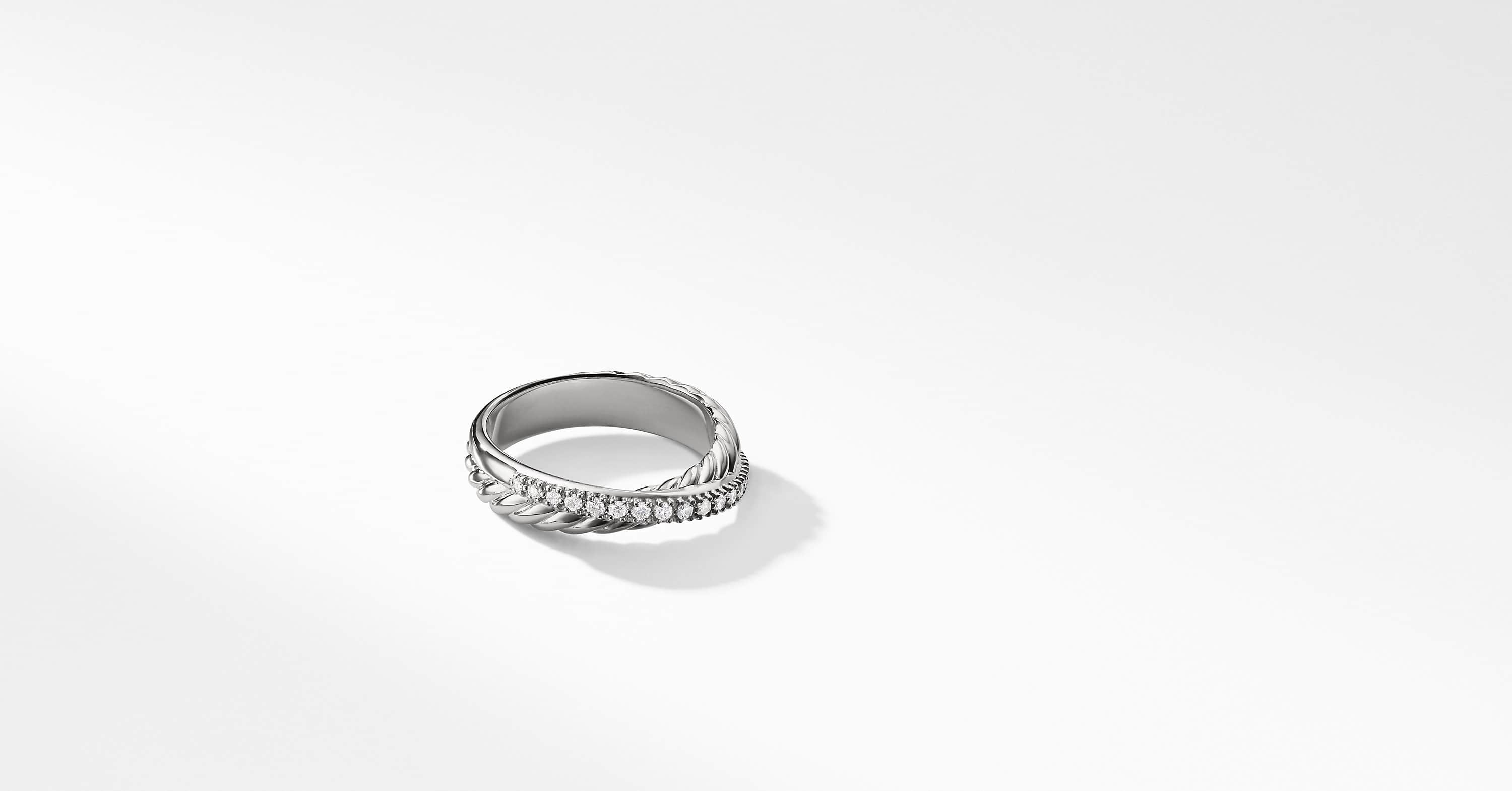 The Crossover Collection Ring with Diamonds