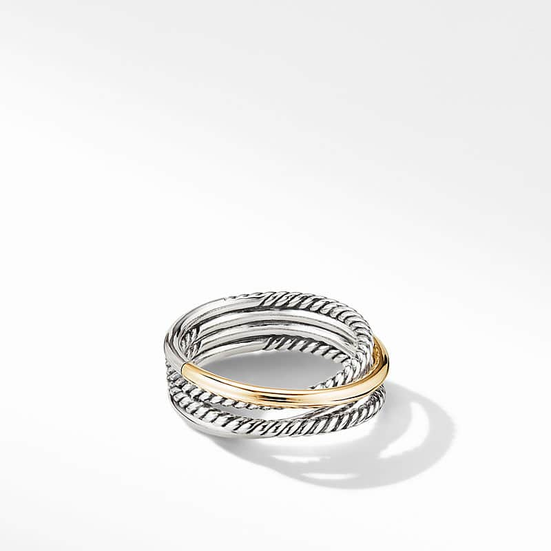 The Crossover Collection® Narrow Ring with 18K Yellow