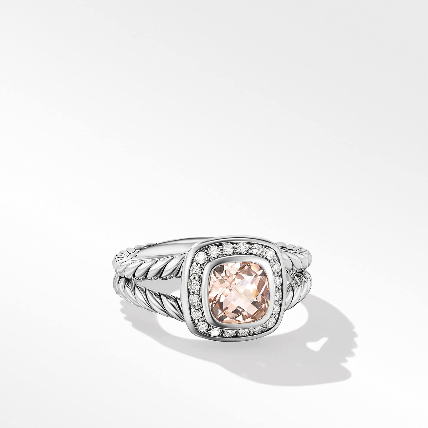 ae49c2f9eac0b0 Petite Albion® Ring with Morganite and Diamonds Product Image
