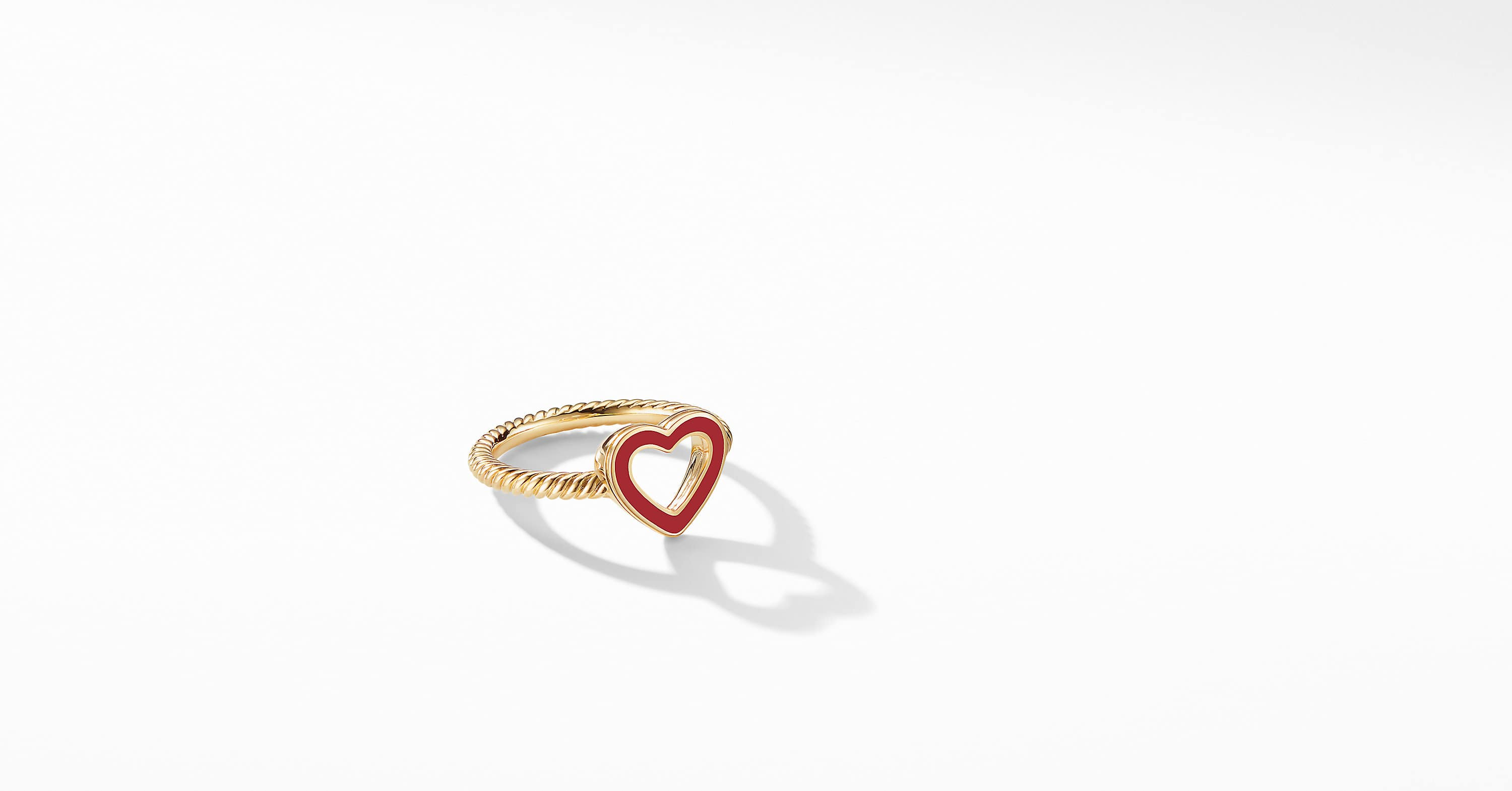 Cable Collectibles Heart Ring in 18K Yellow Gold