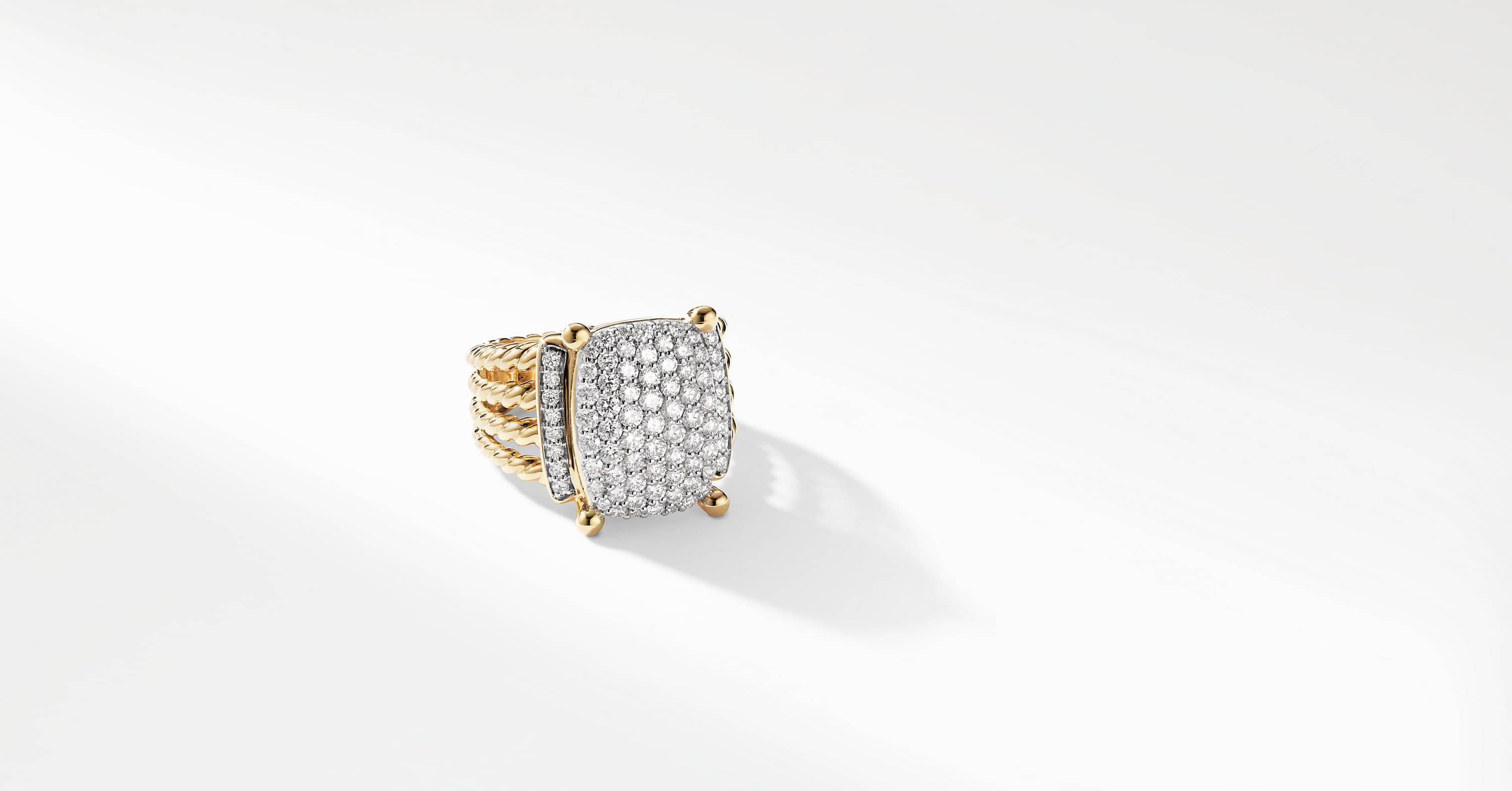 Wheaton Ring with Diamonds in 18K Gold