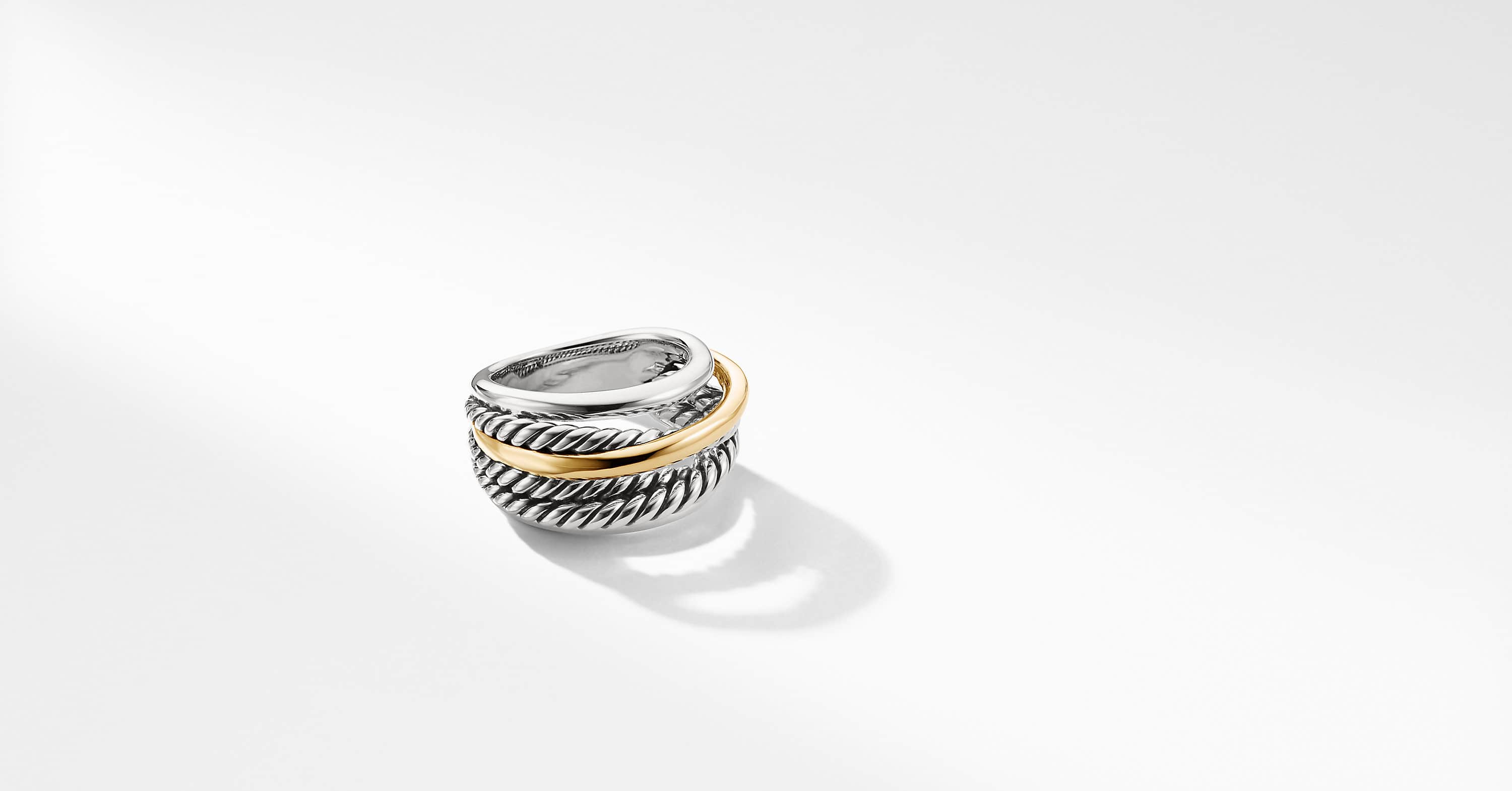 The Crossover Collection Narrow Ring with 14K Yellow Gold