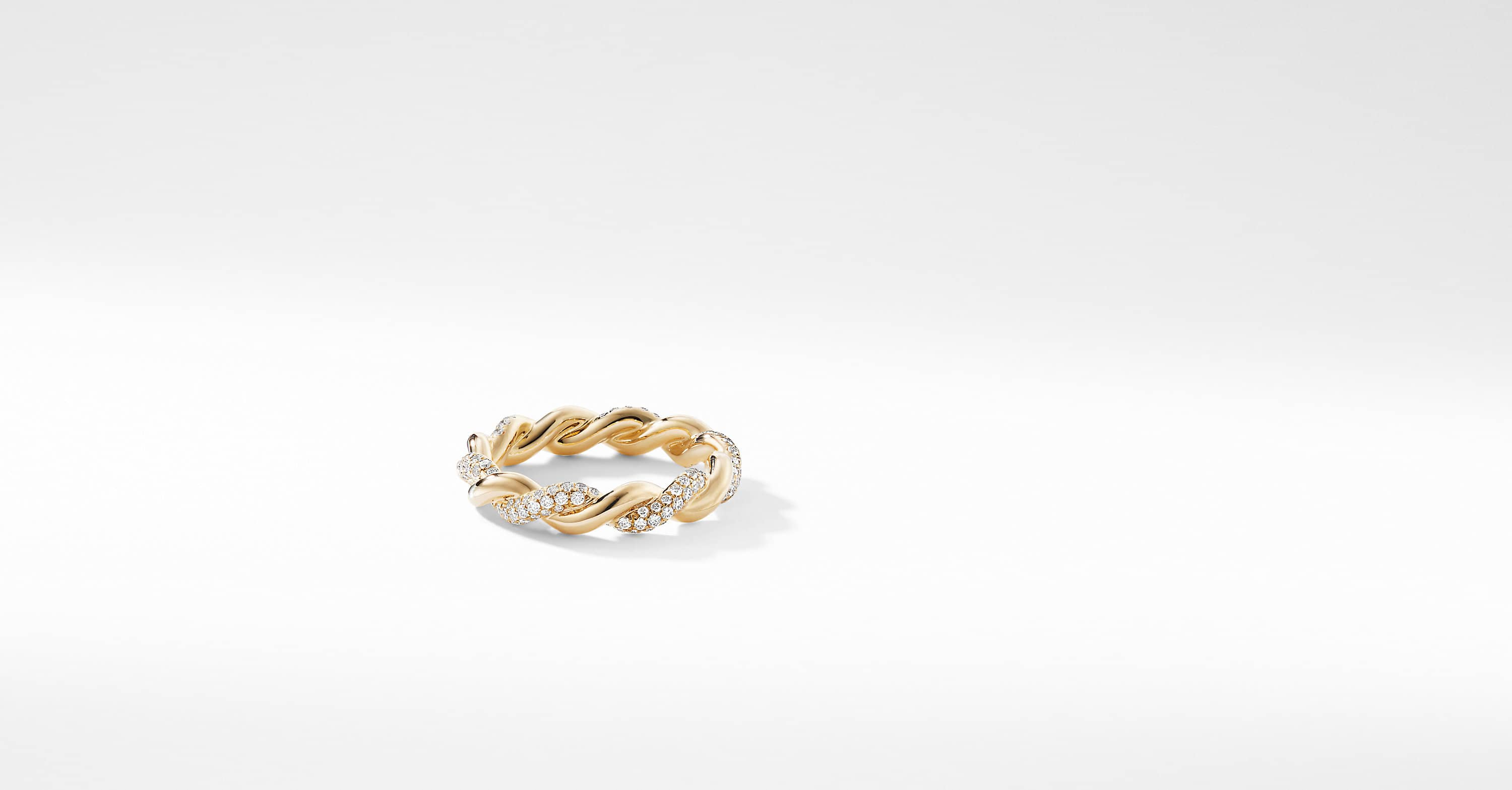 Wisteria Twist Ring with Diamonds in 18K Gold