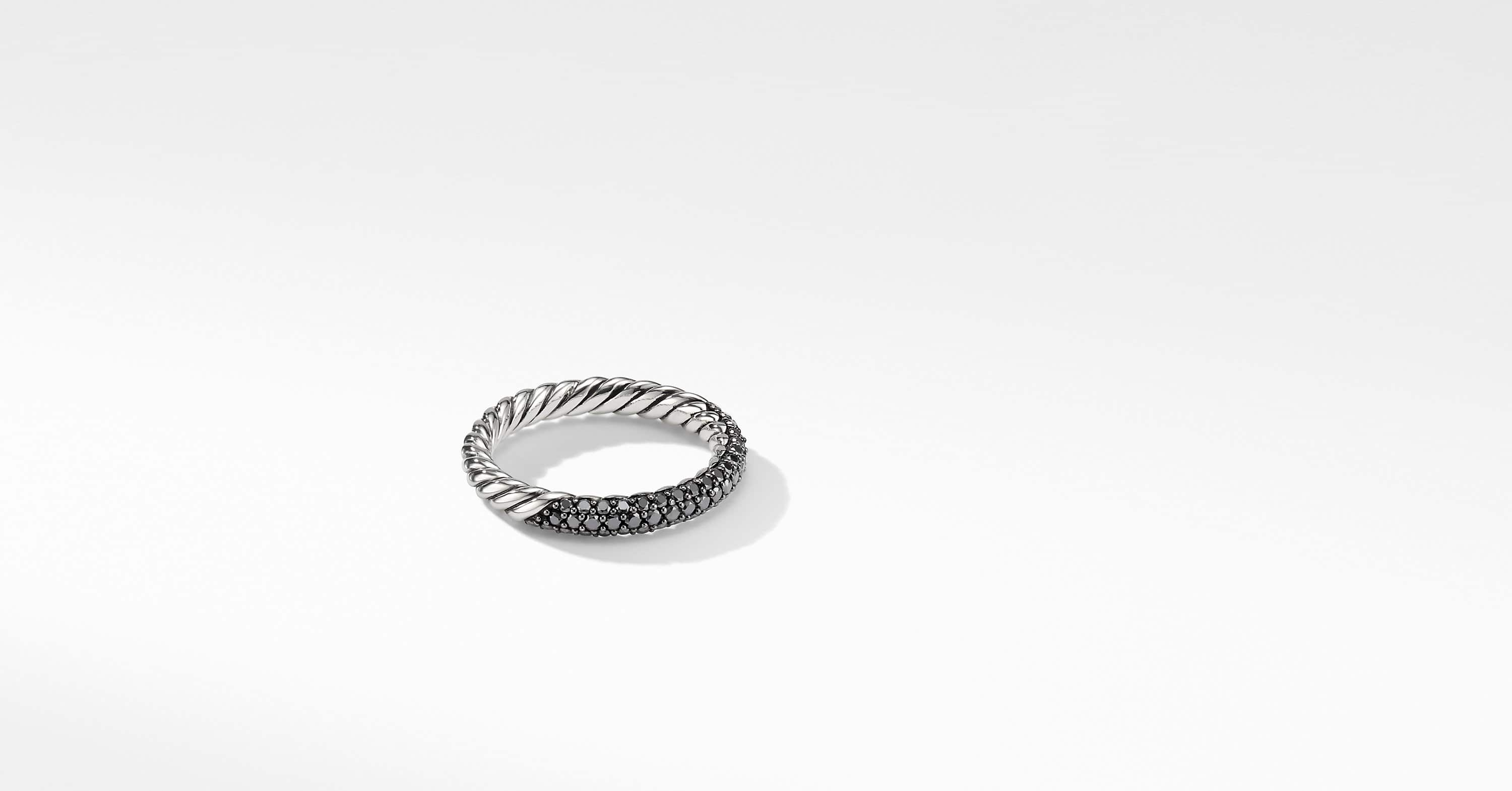 Petite Pavé Ring with Diamonds