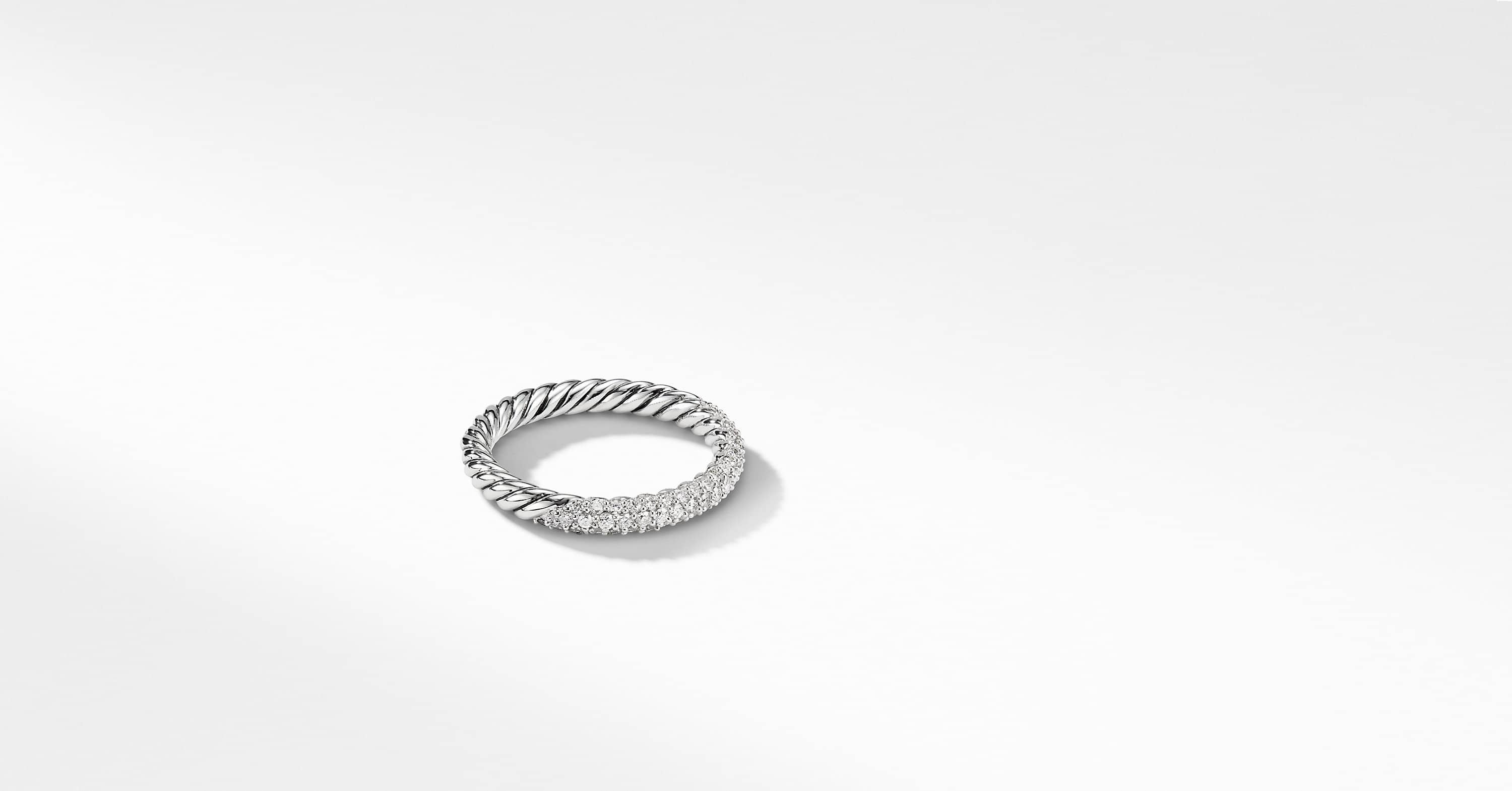 Petite Pave Ring with Diamonds