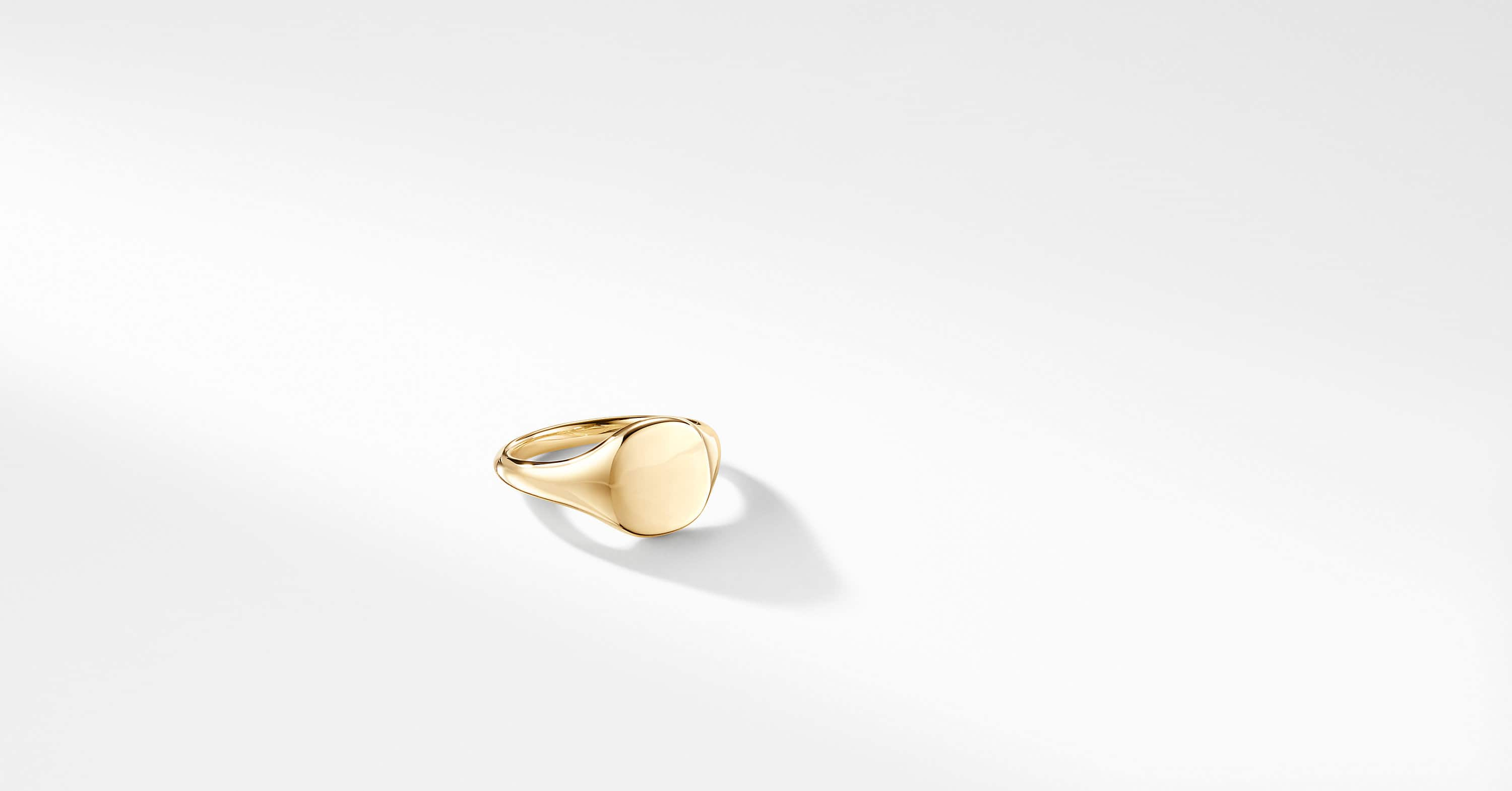 DY Signature Mini Pinky Ring in 18K Gold
