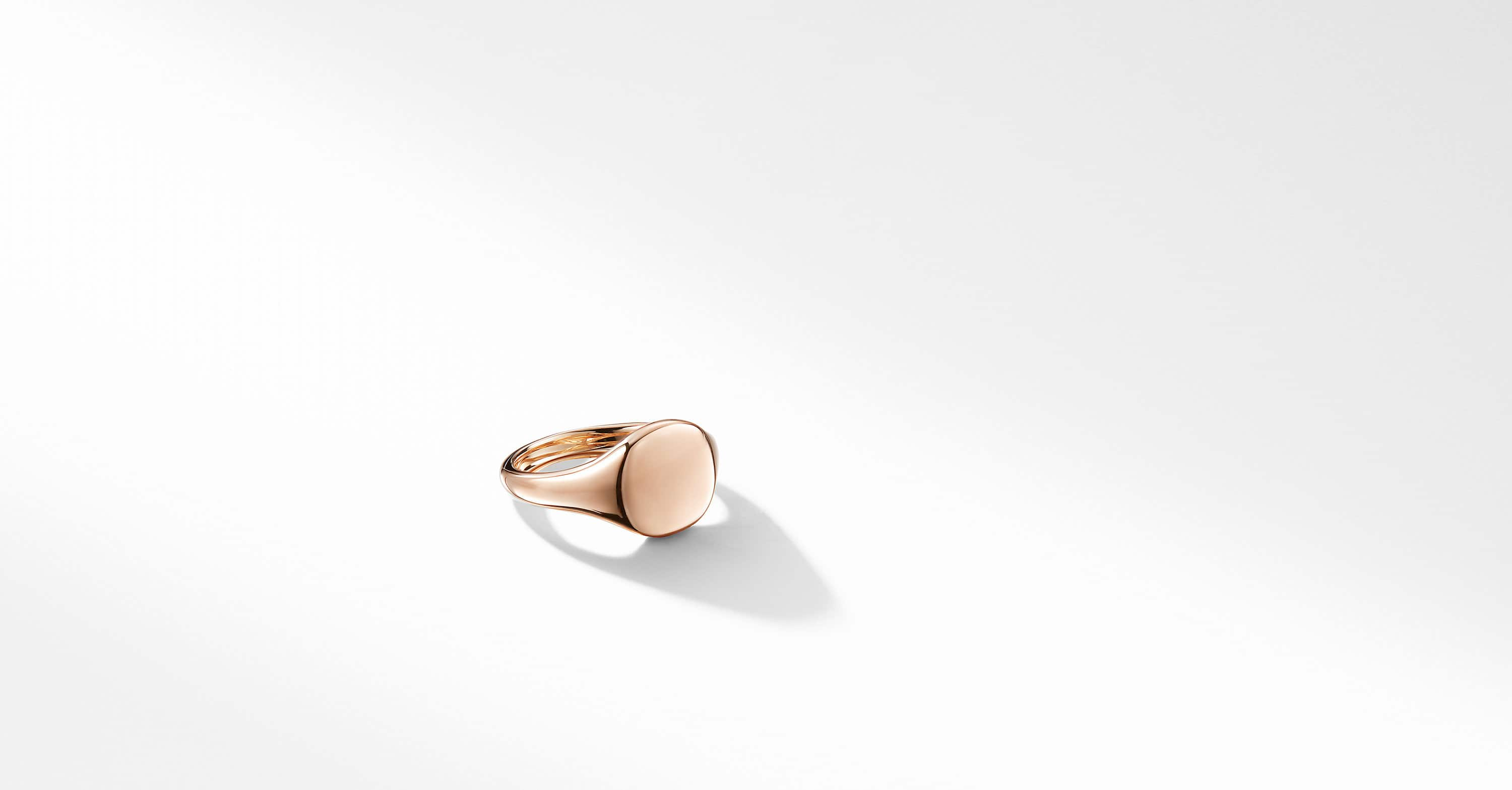 DY Signature Mini Pinky Ring in 18K Rose Gold