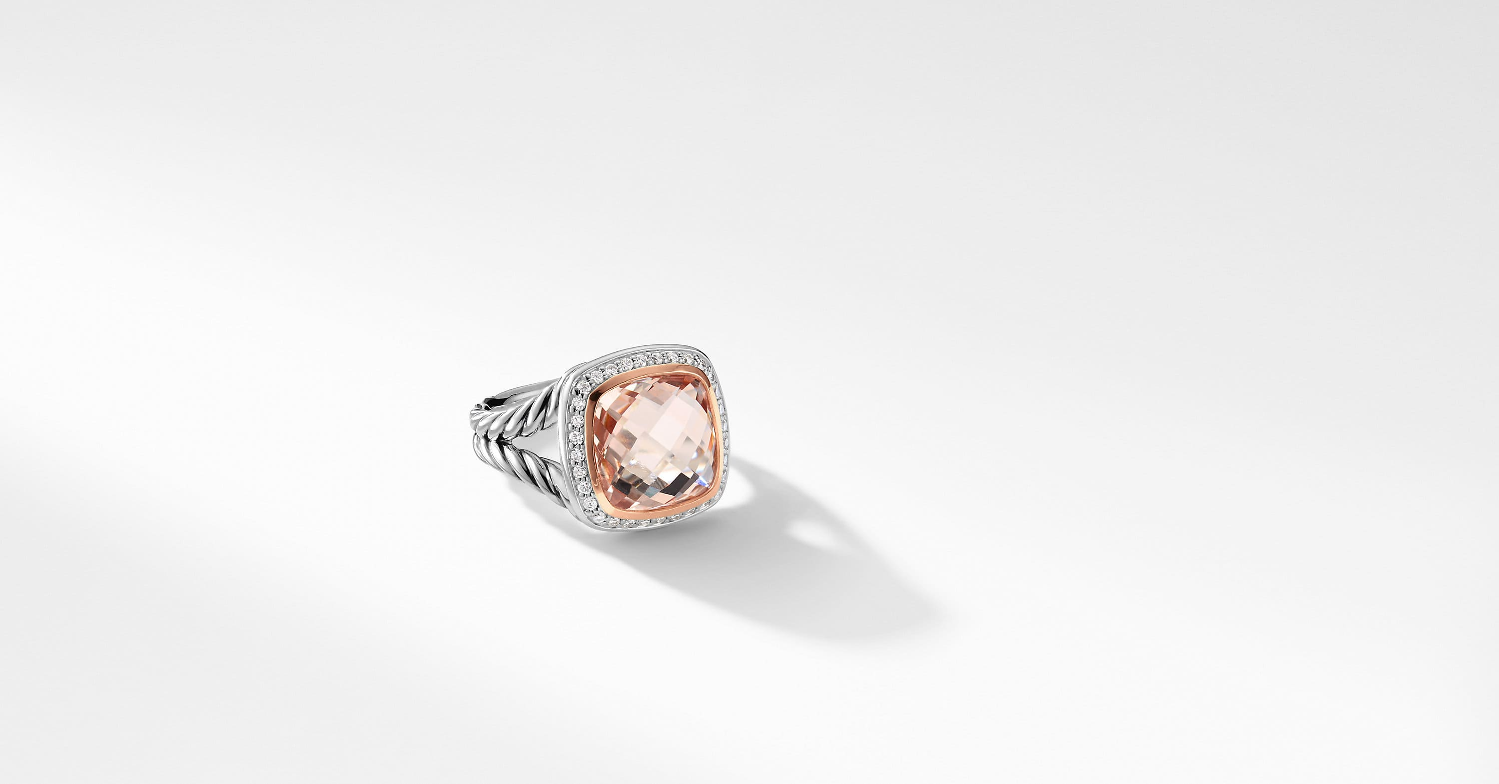 Albion® Ring with Diamonds and 18K Rose Gold