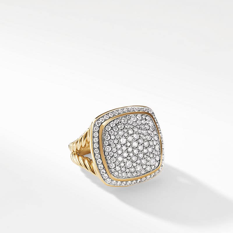 Albion Ring with Diamonds in 18K Gold, 17mm