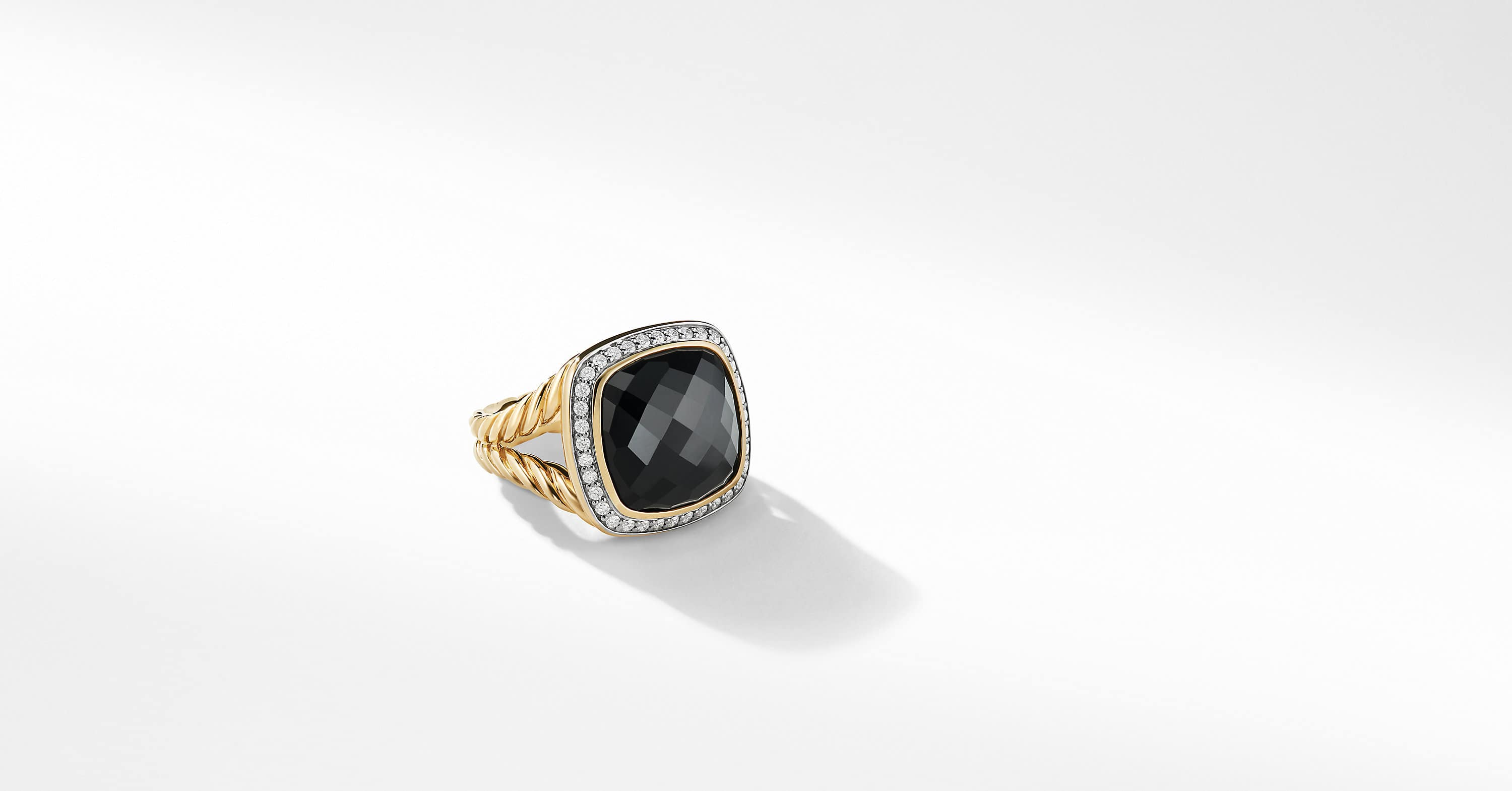 Albion Ring with Diamonds in 18K Gold, 14mm