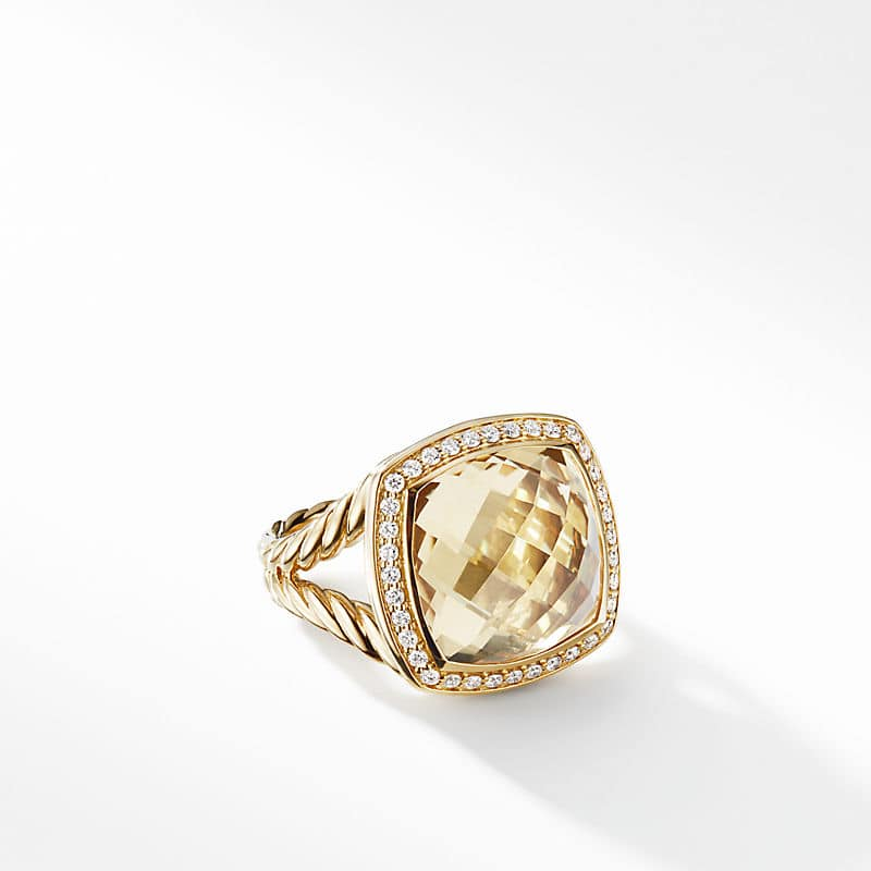 Albion Ring in 18K Yellow Gold with Diamonds, 14mm