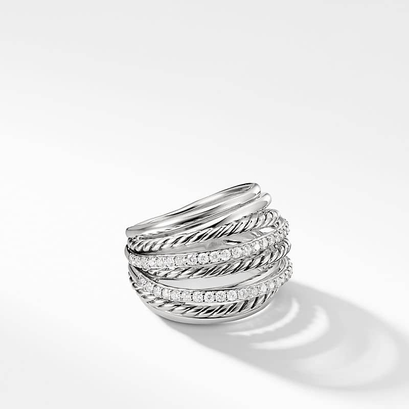 The Crossover Collection X Dome Ring with Diamonds