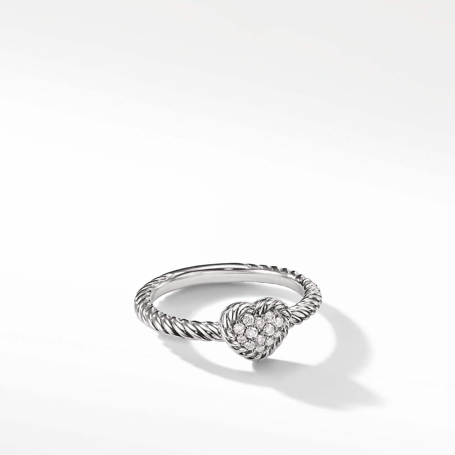0ced003ed0ef60 Petite Pave Heart Ring with Diamonds Product Image