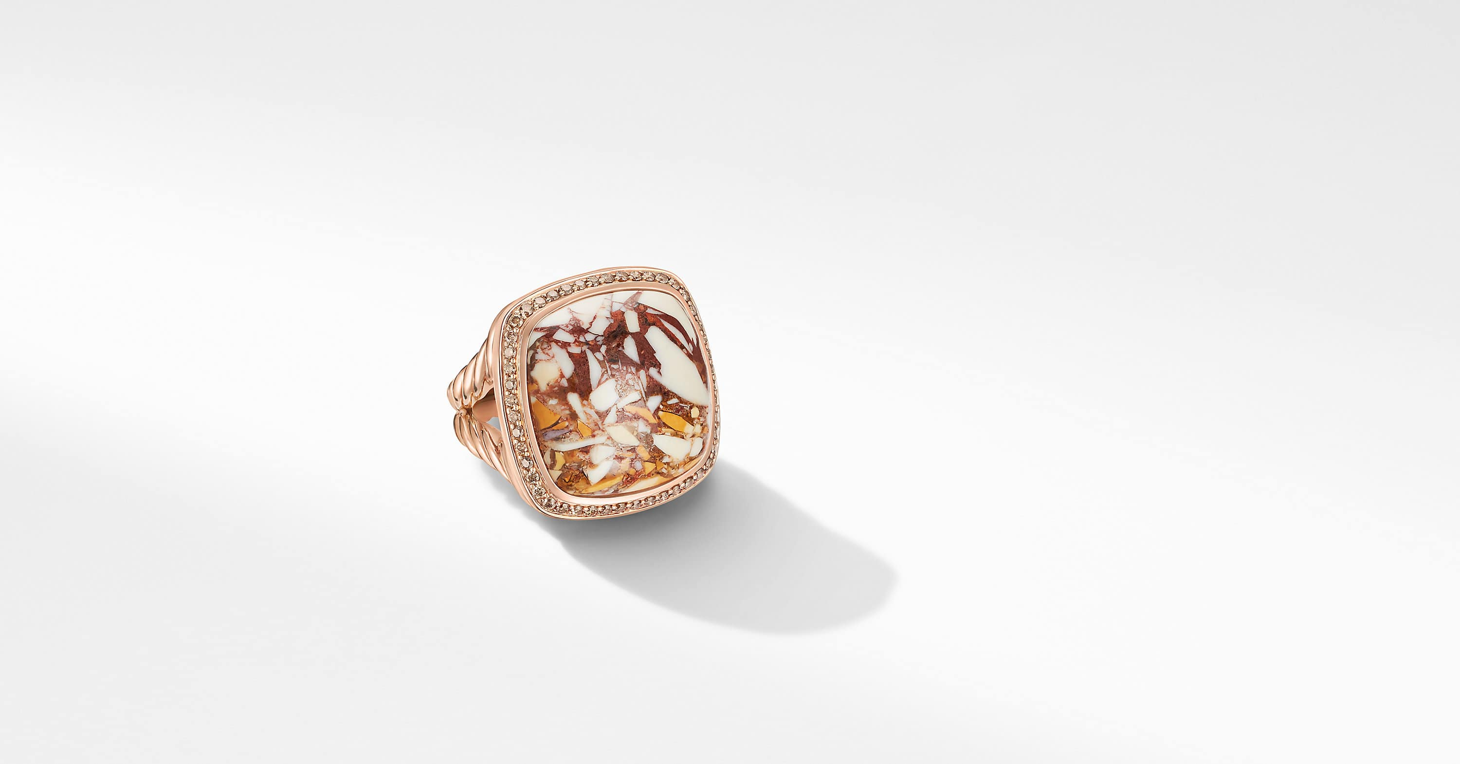 Albion Collectors Ring in 18K Rose Gold with Pavé, 24mm