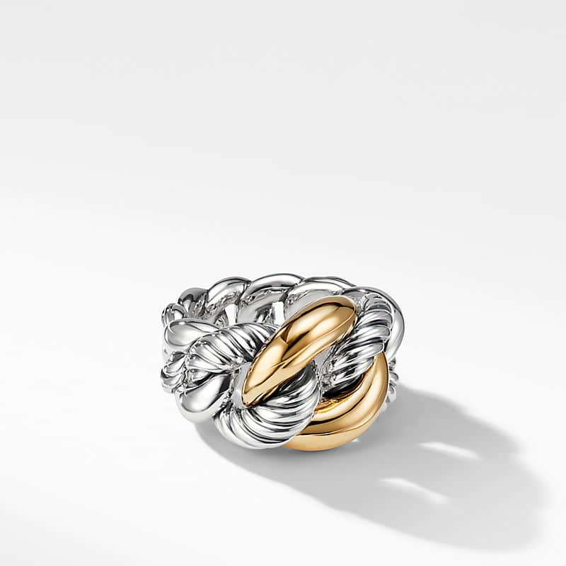 Belmont® Curb Link Ring with 18K Gold