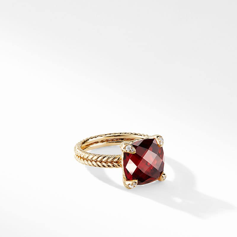 Chatelaine® Ring in 18K Yellow Gold with Garnet