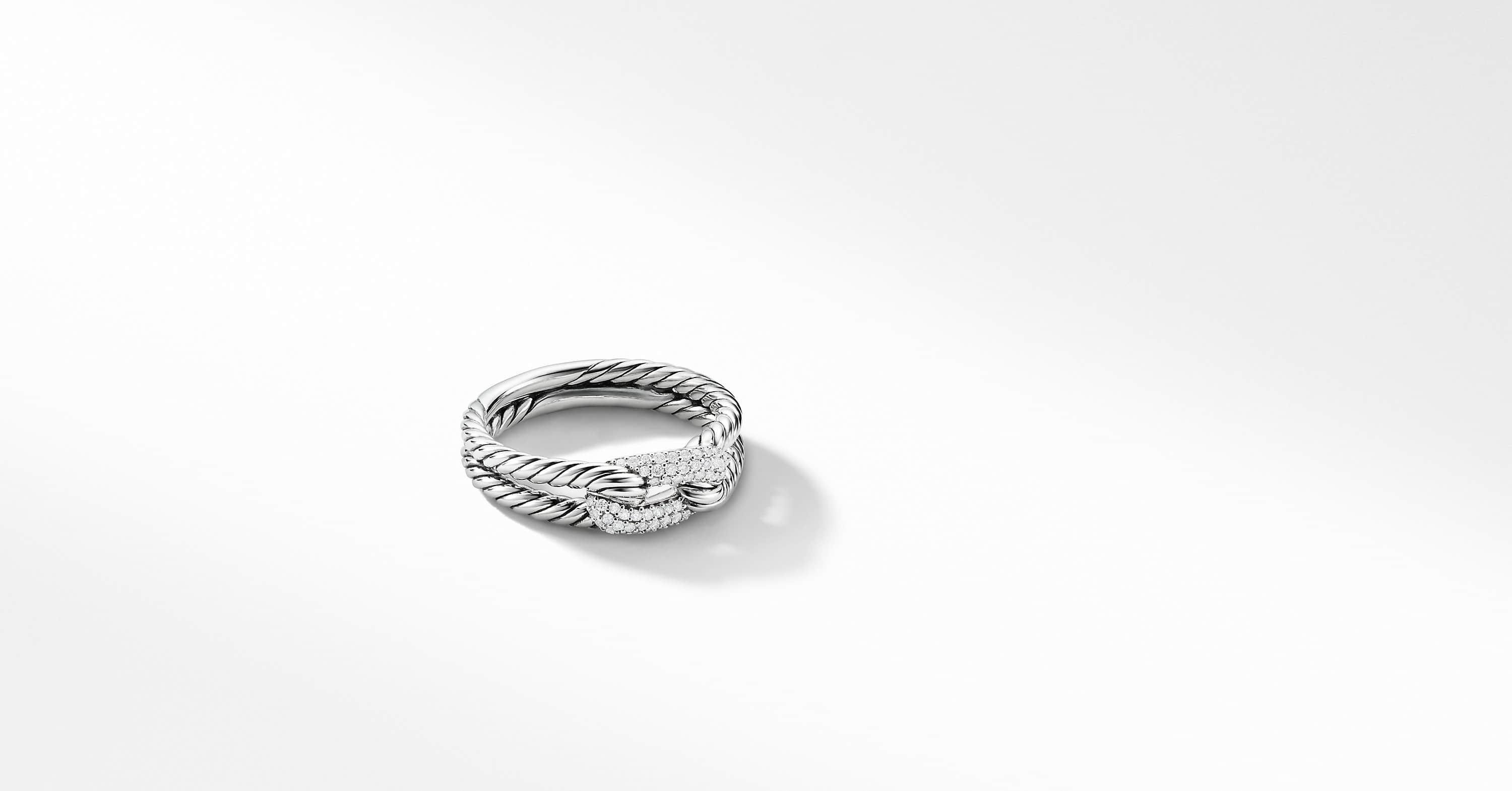 Petite Pavé Loop Ring with Diamonds