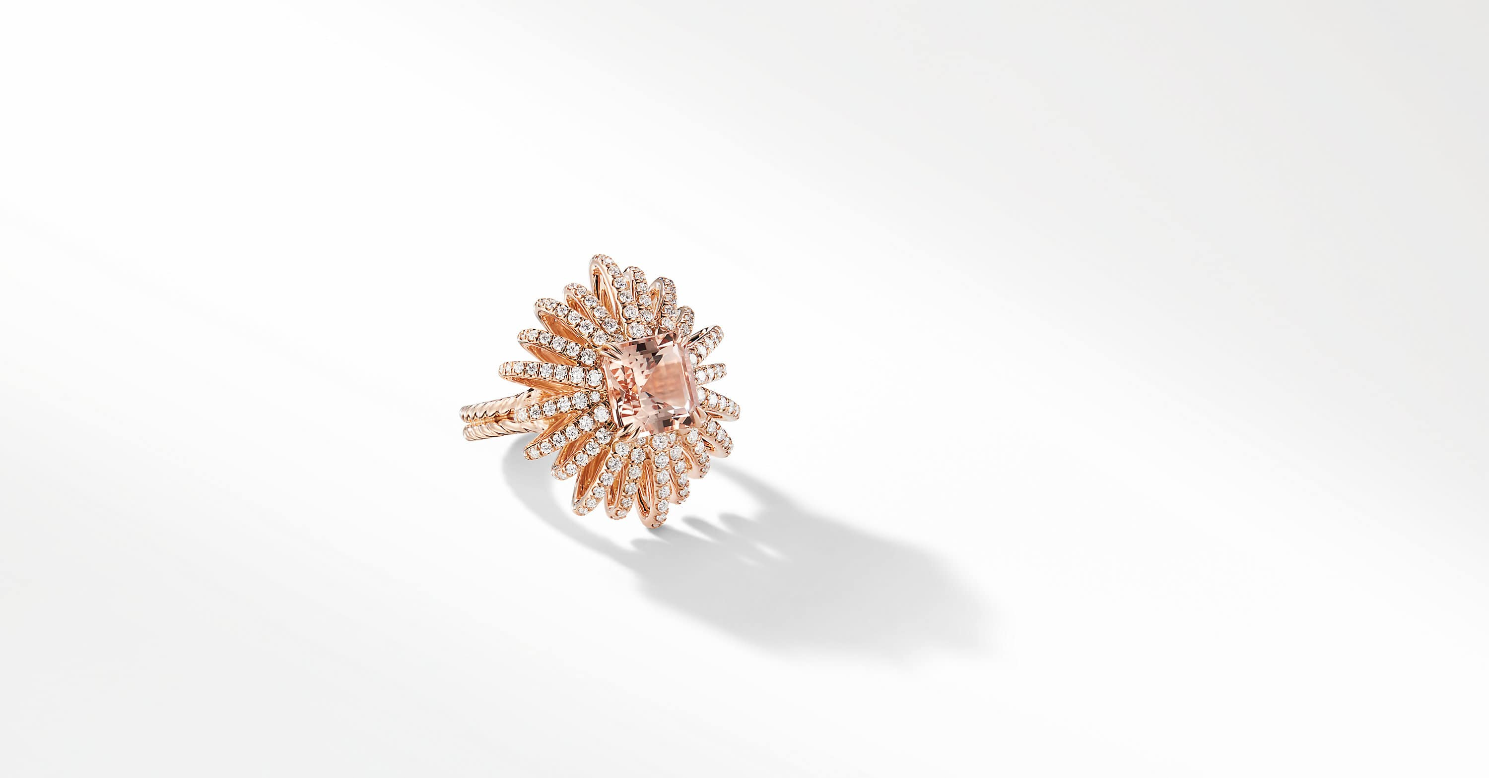 Bague Starburst en or rose 18 carats et diamants, 25 mm