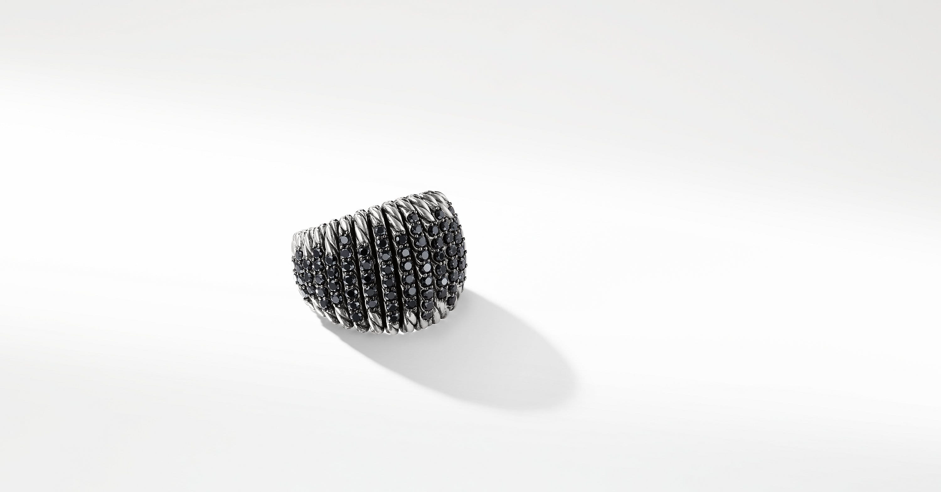 Tempo Ring with Black Spinel