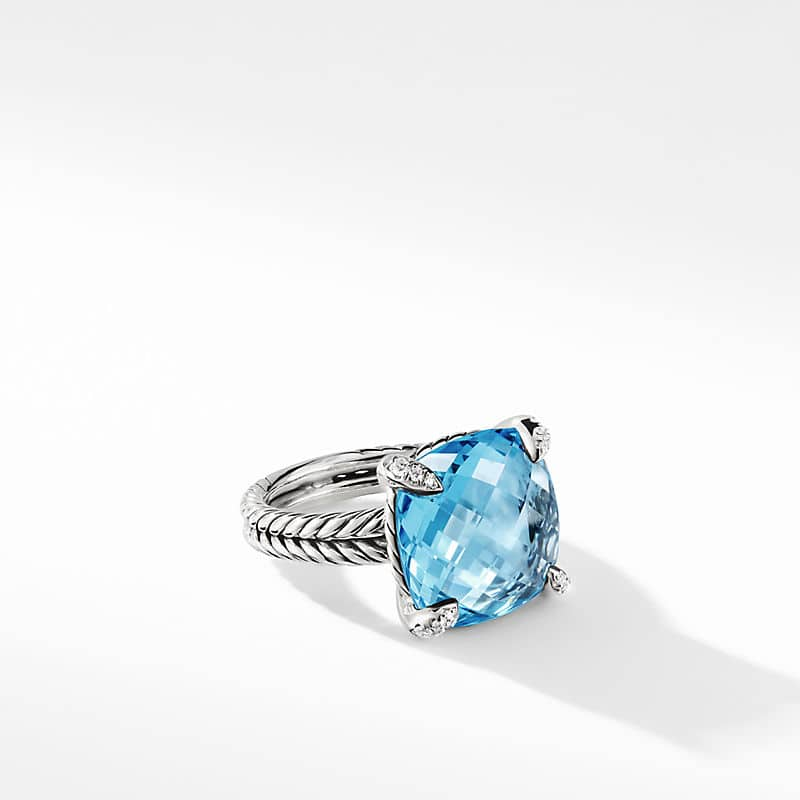 Chatelaine Ring with Diamonds, 14mm