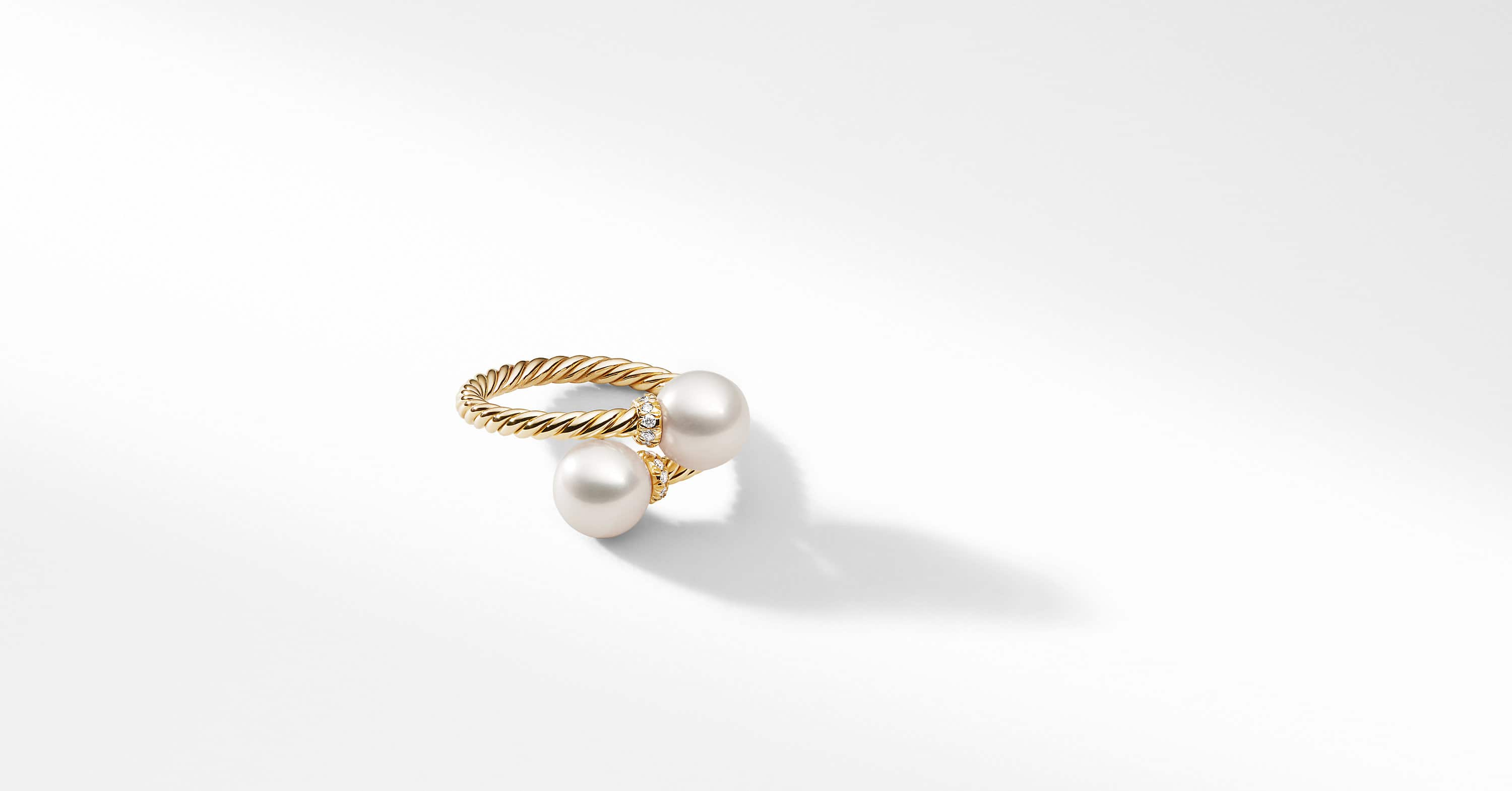 Solari Bypass Ring with Diamonds in 18K Gold