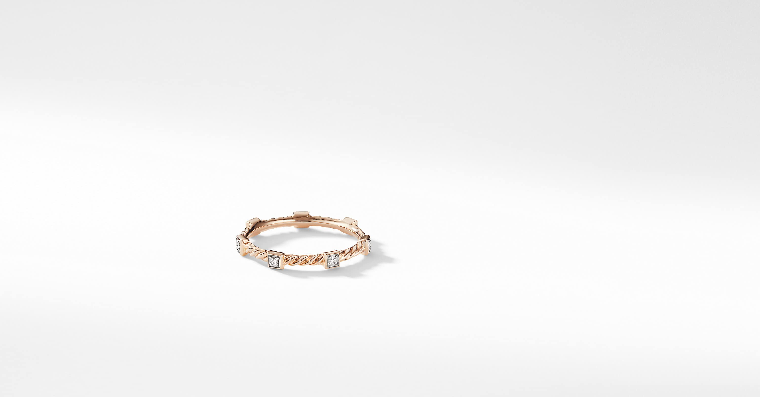 Cable Collectibles Cable Stack Ring in 18K Rose Gold