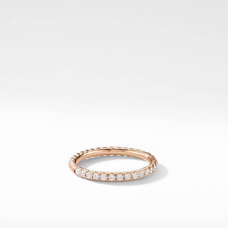 Cable Collectibles Cable Stack Ring in 18K Rose