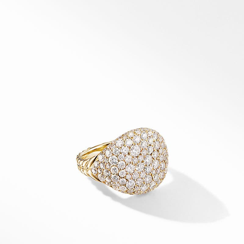 Chevron Pinky Ring in 18K Yellow Gold with