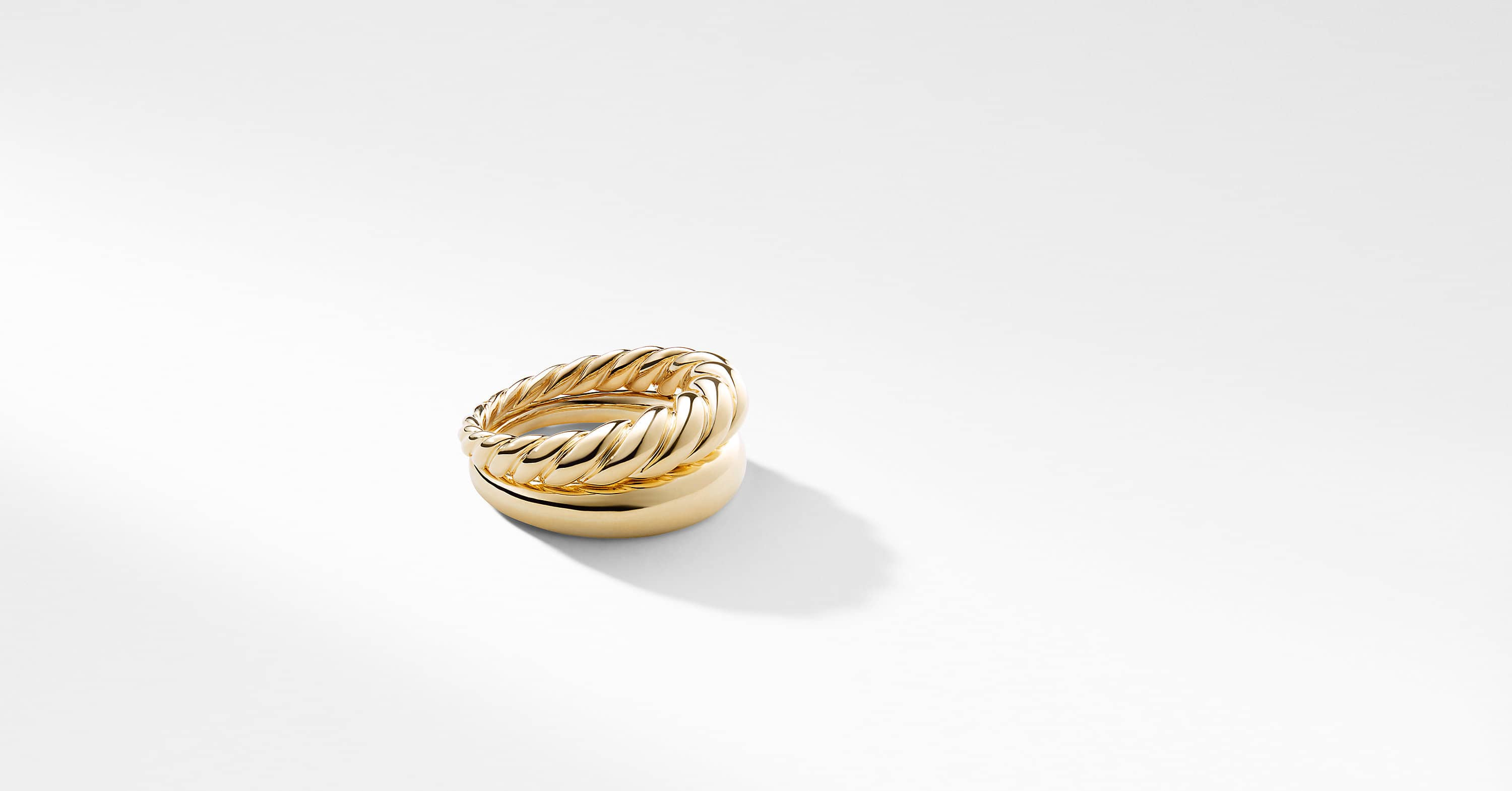 Pure Form Stack Rings in 18K Gold