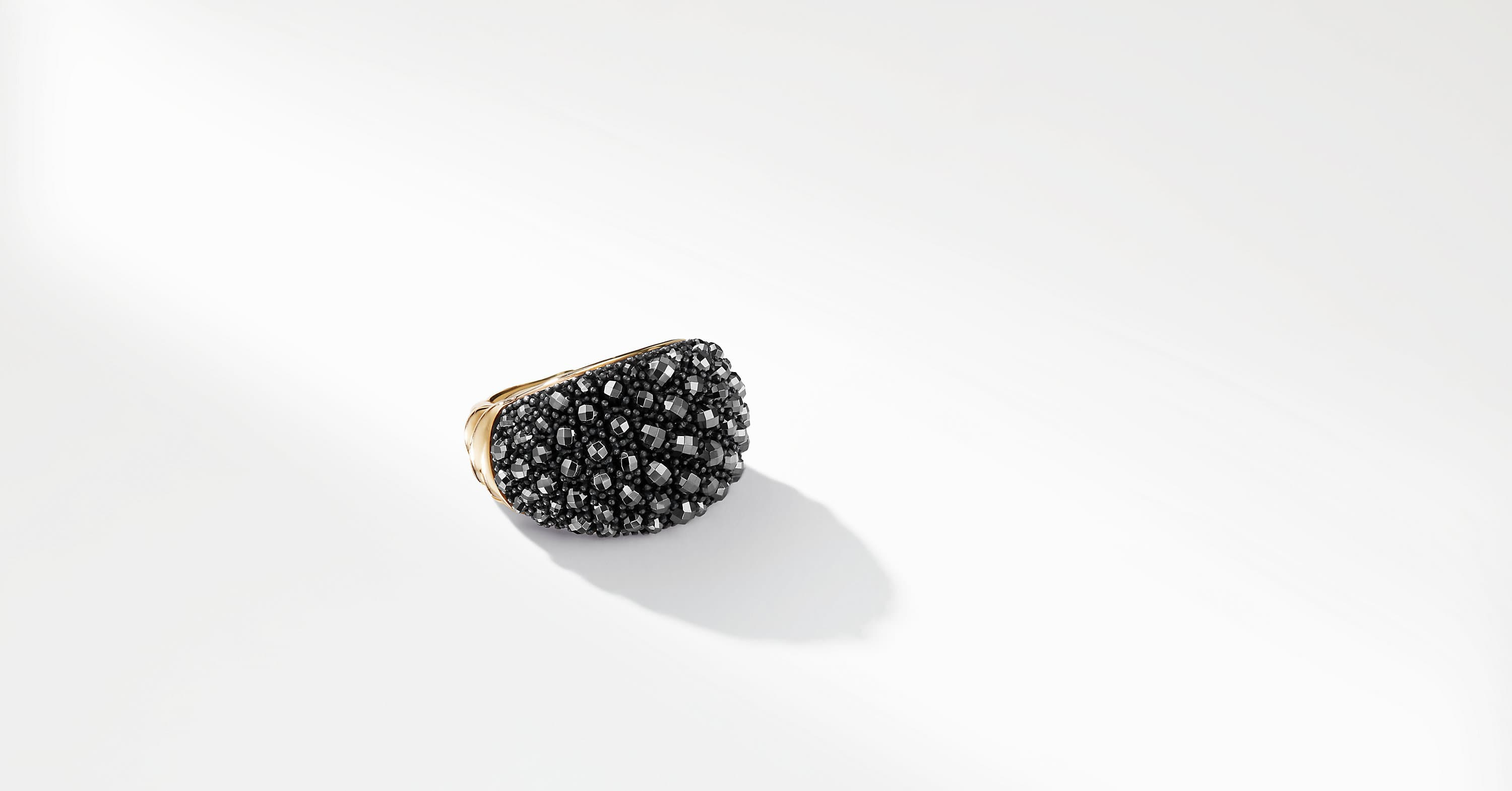 Cable Berries Dome Ring with 18K Gold
