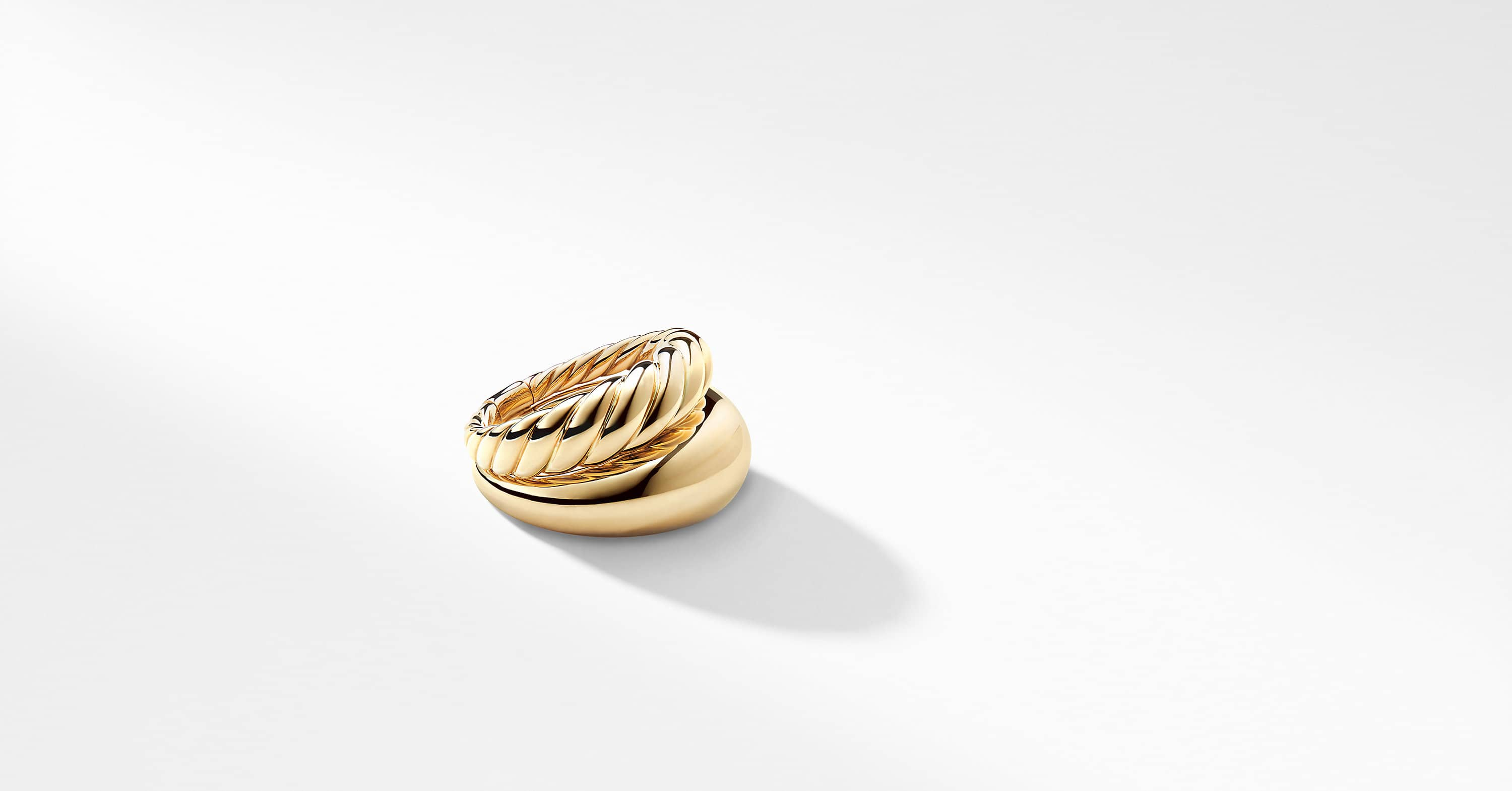 Pure Form® Two Row Ring in 18K Gold, 17mm