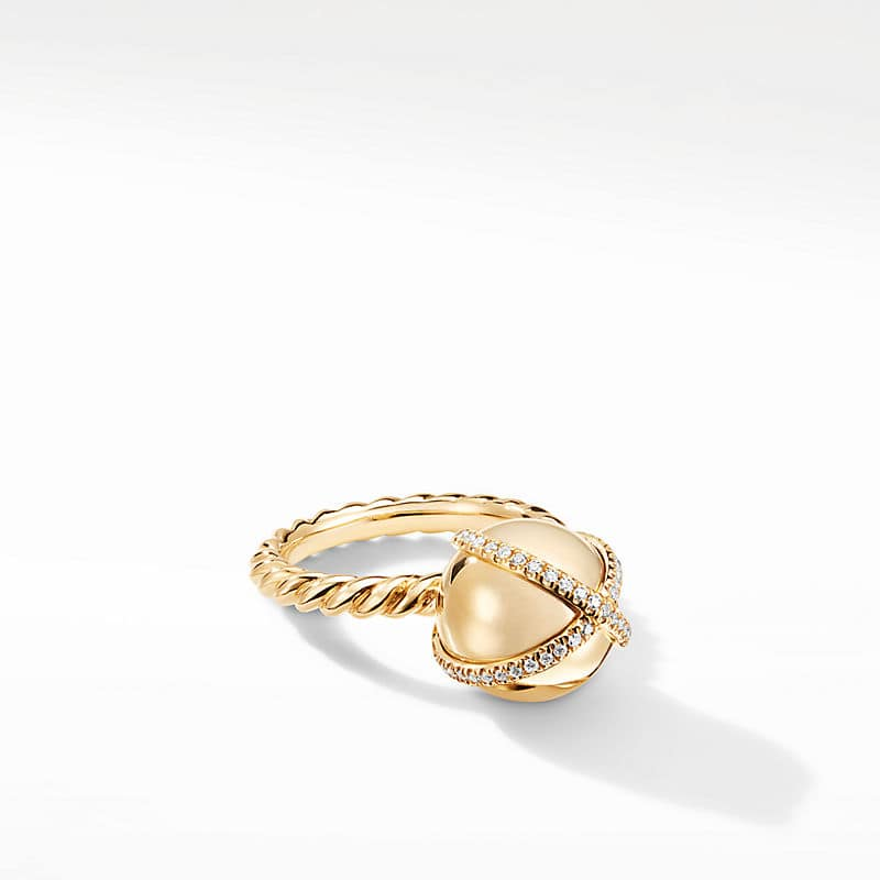 Solari Pave Wrap Ring with Diamonds in 18K Gold