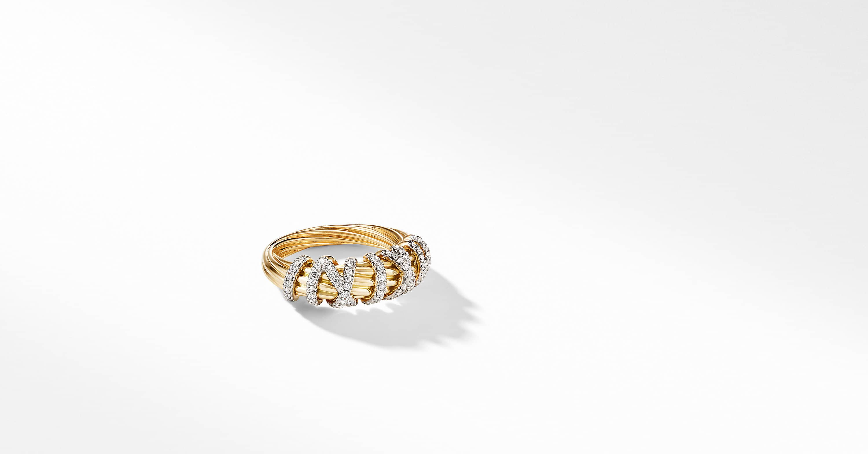 Helena Small Ring in 18K Yellow Gold with Diamonds