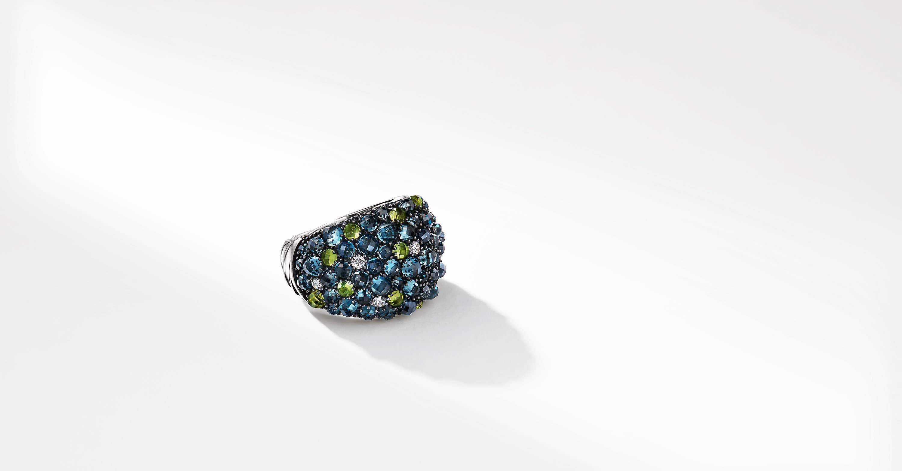 Cable Berries Dome Ring with Diamonds, 17mm