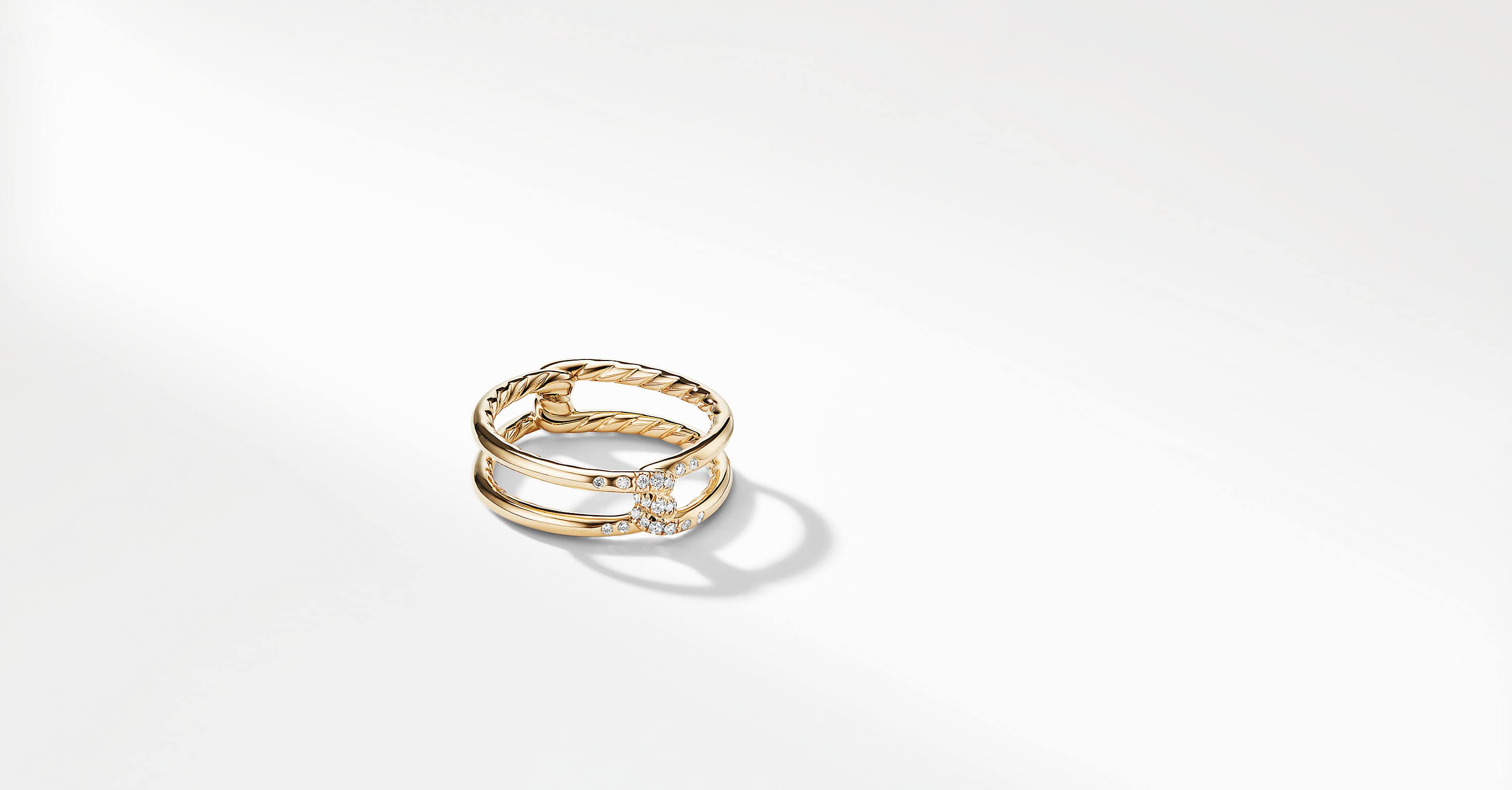 Continuance Band Ring with Diamonds in 18K Gold, 6.5mm