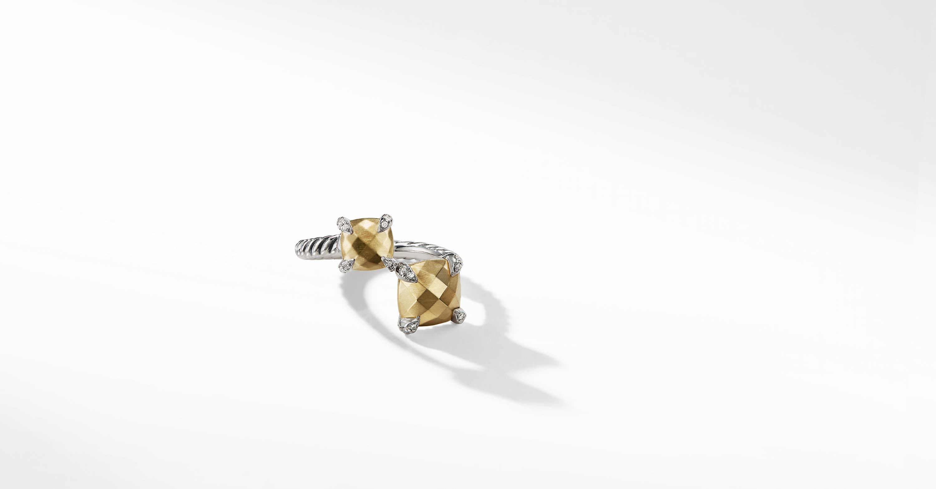 Chatelaine Bypass Ring with 18K Gold and Diamonds