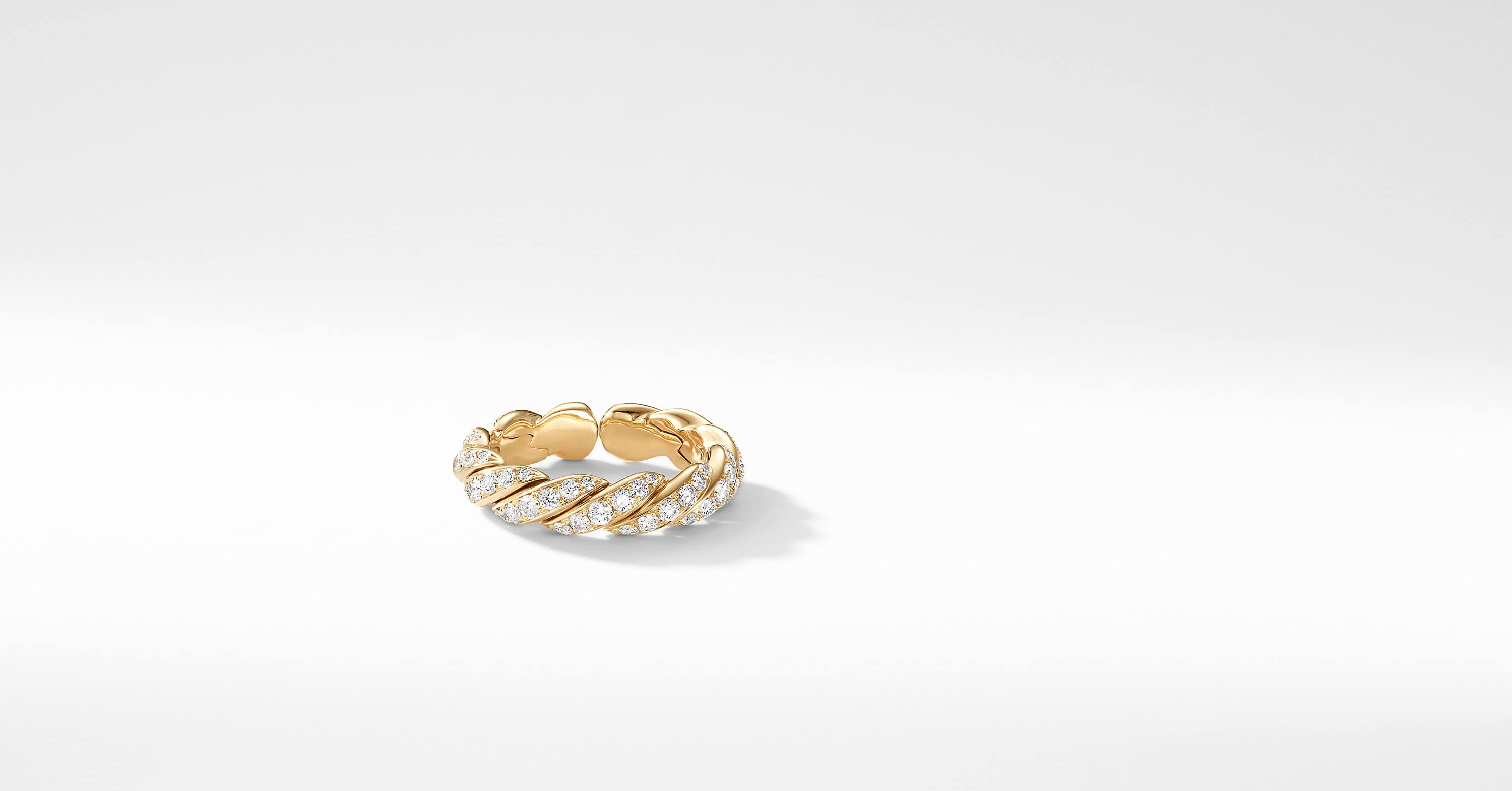 Pavéflex Band Ring in 18K Gold with Diamonds