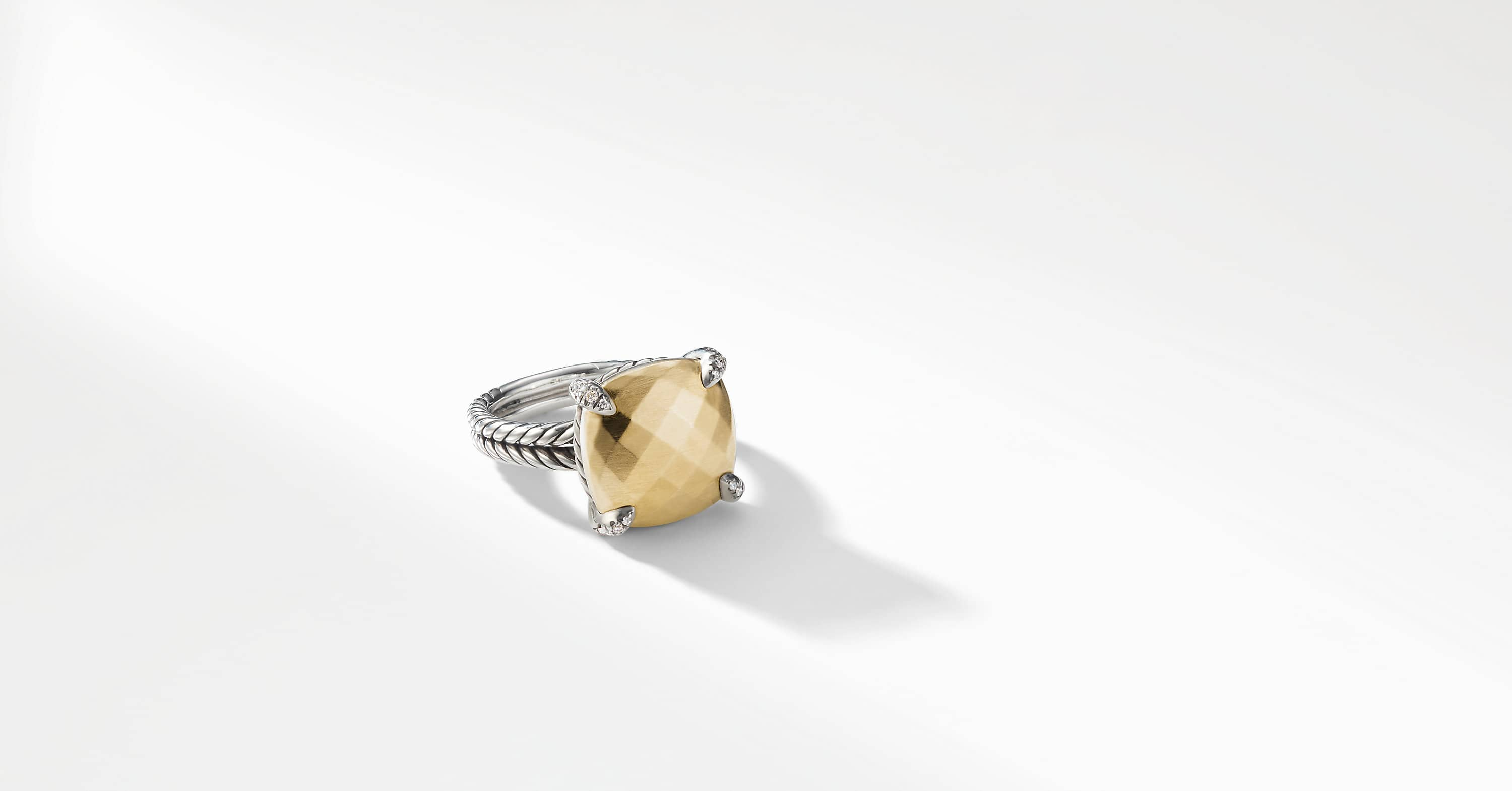 Chatelaine® Ring with 18K Gold and Diamonds, 14mm