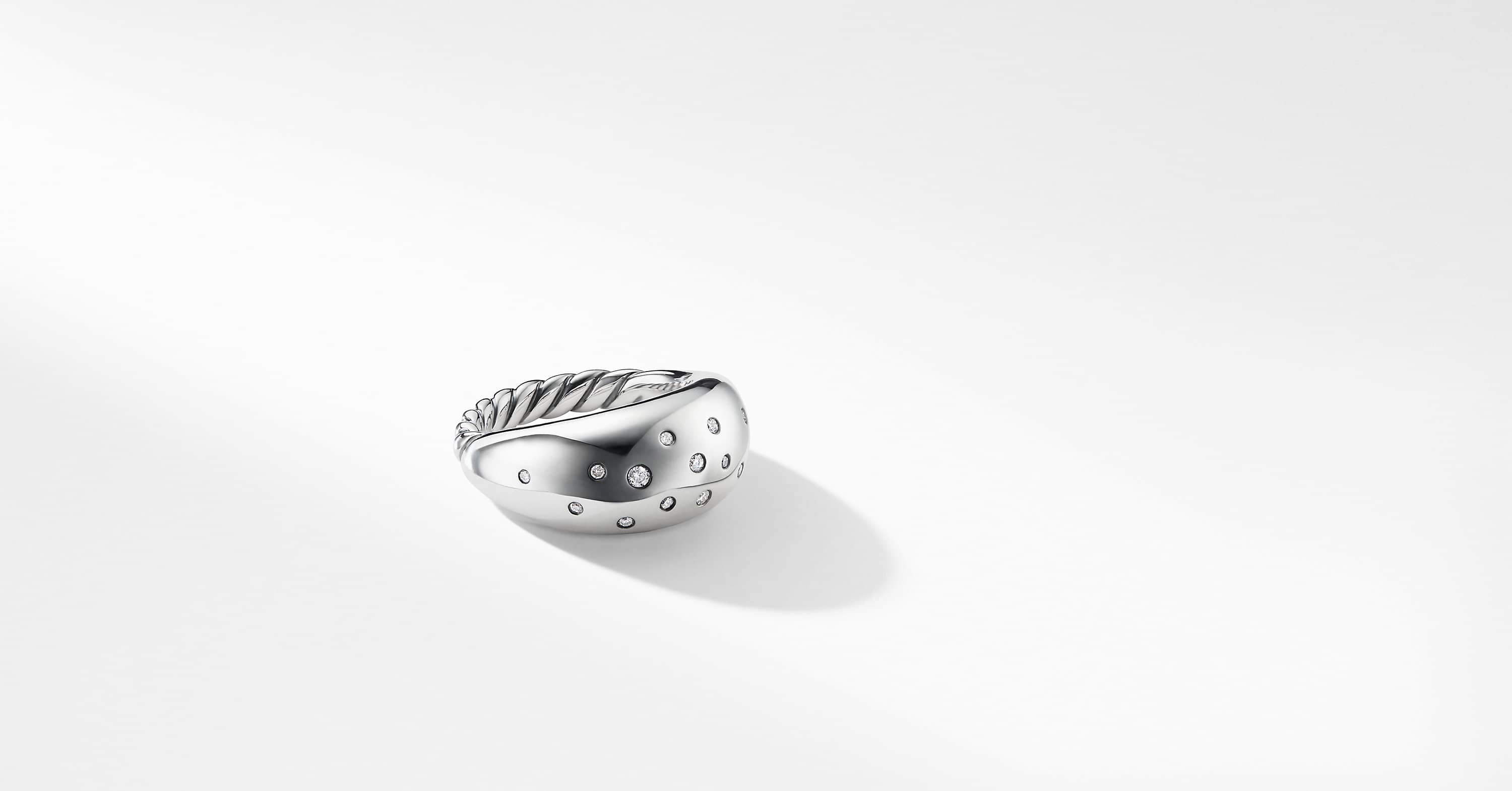 Pure Form Ring with Diamonds, 11mm
