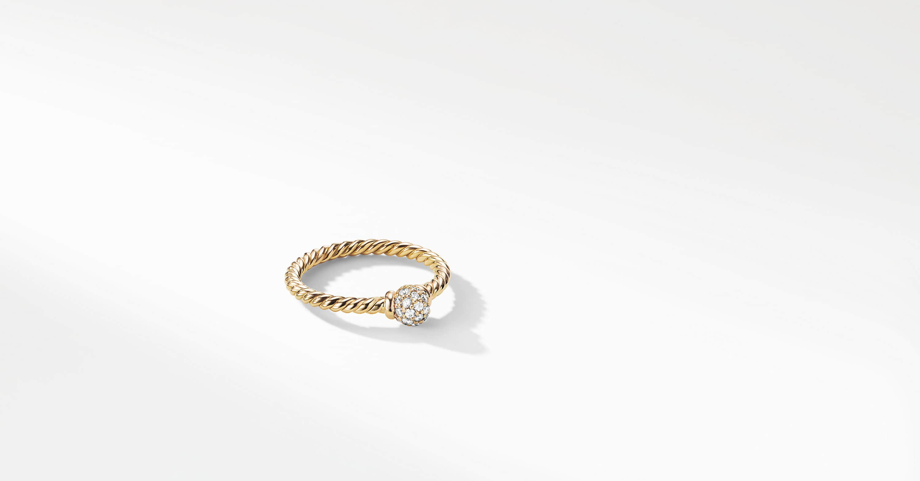 Petite Solari Station Ring with Diamonds in 18K Gold