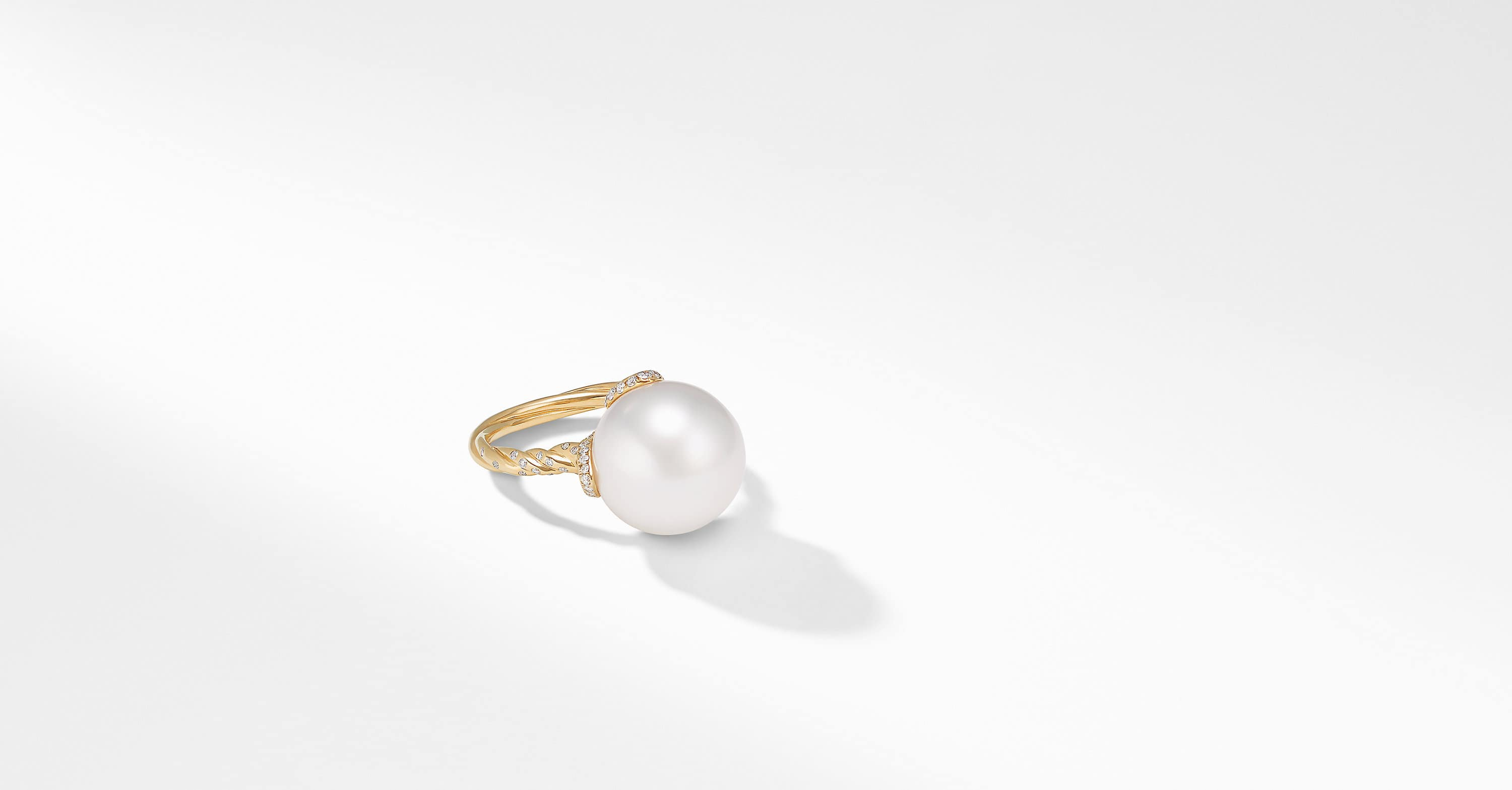 Continuance Pearl Cocktail Ring with Diamonds