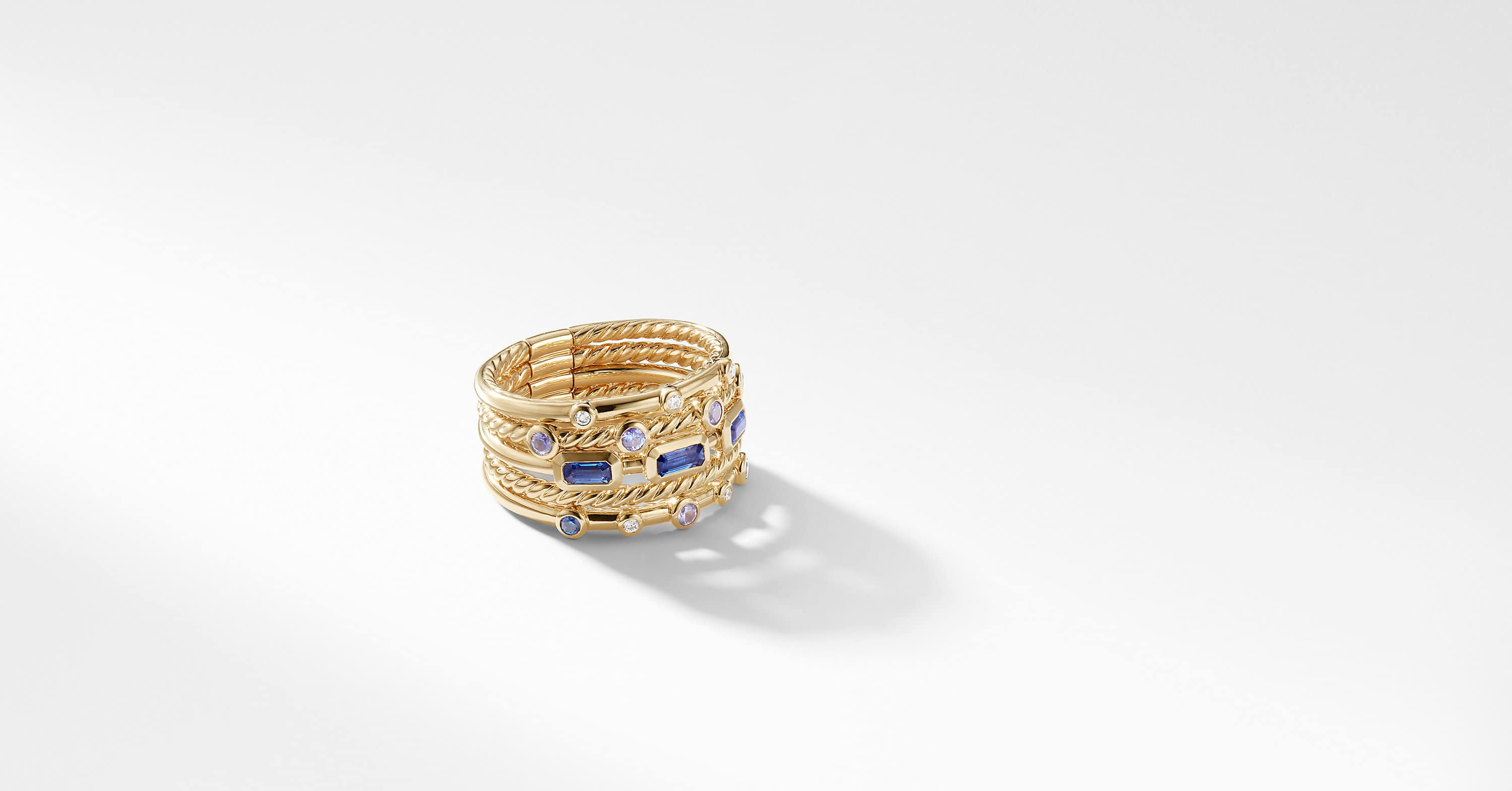 Novella Stack Ring in 18K Yellow Gold