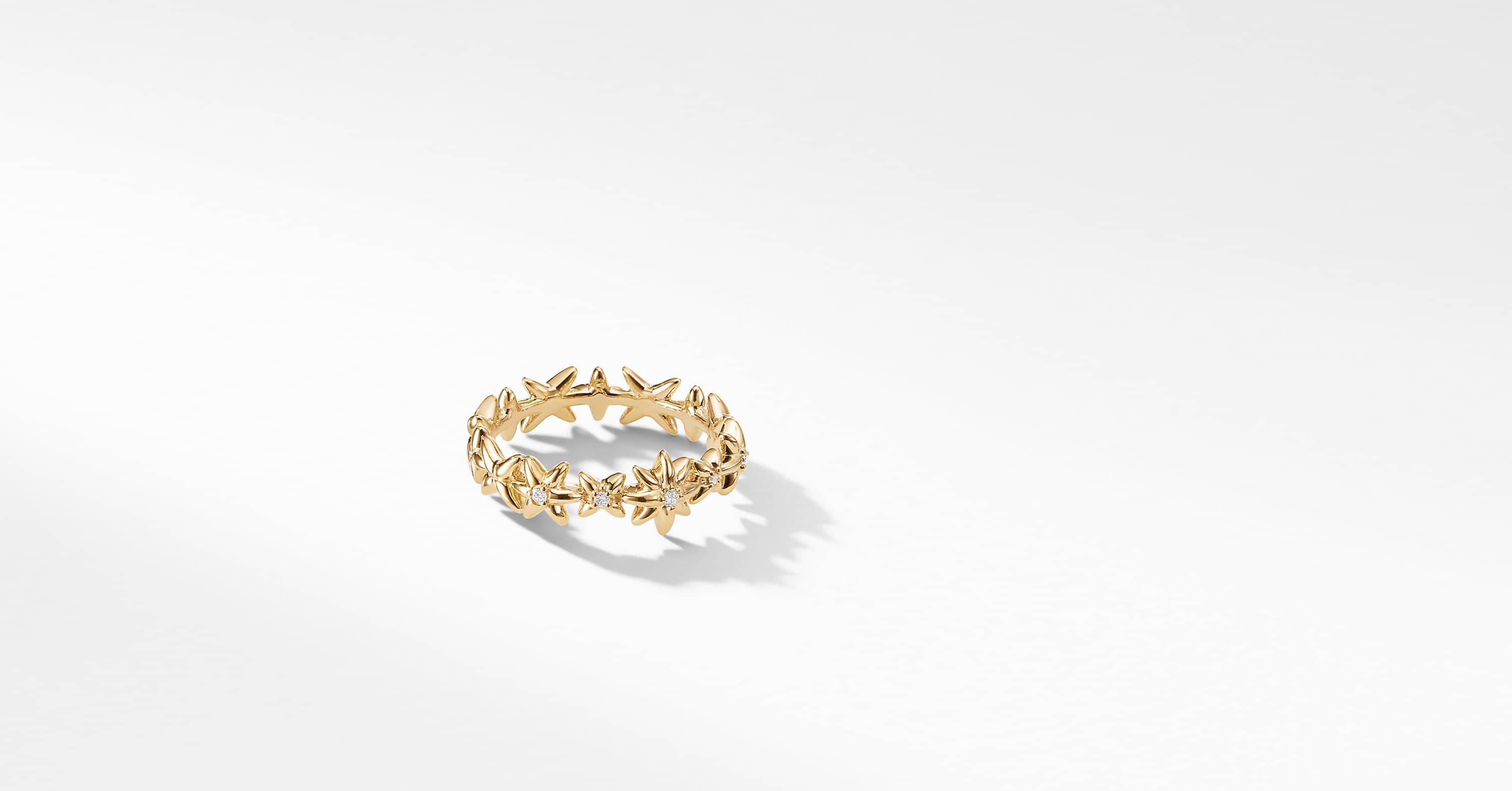 Starburst Constellation Ring in 18K Gold with Diamonds