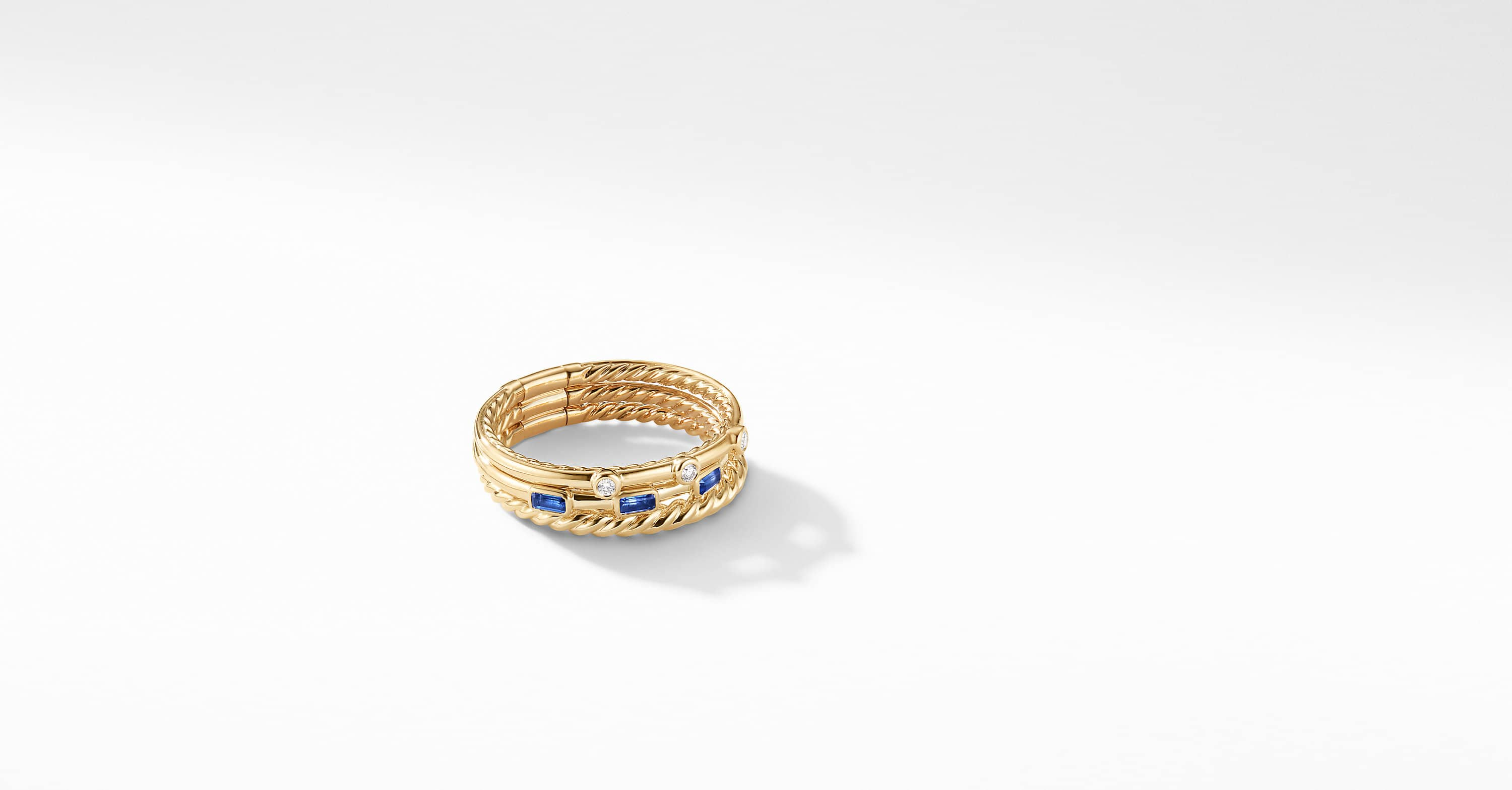 Novella Three-Row Ring in 18K Yellow Gold