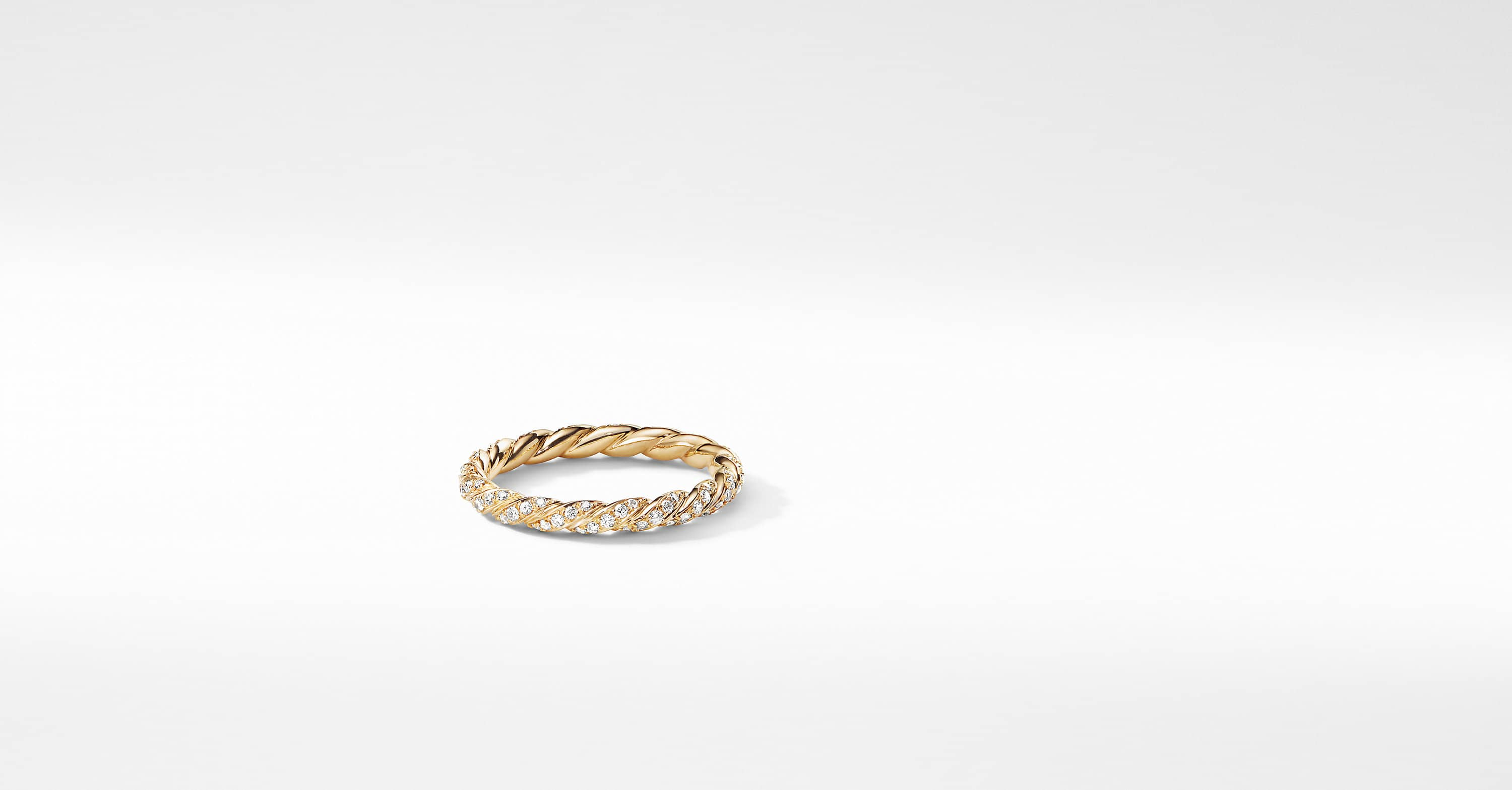 Paveflex Ring with Diamonds in 18K Gold