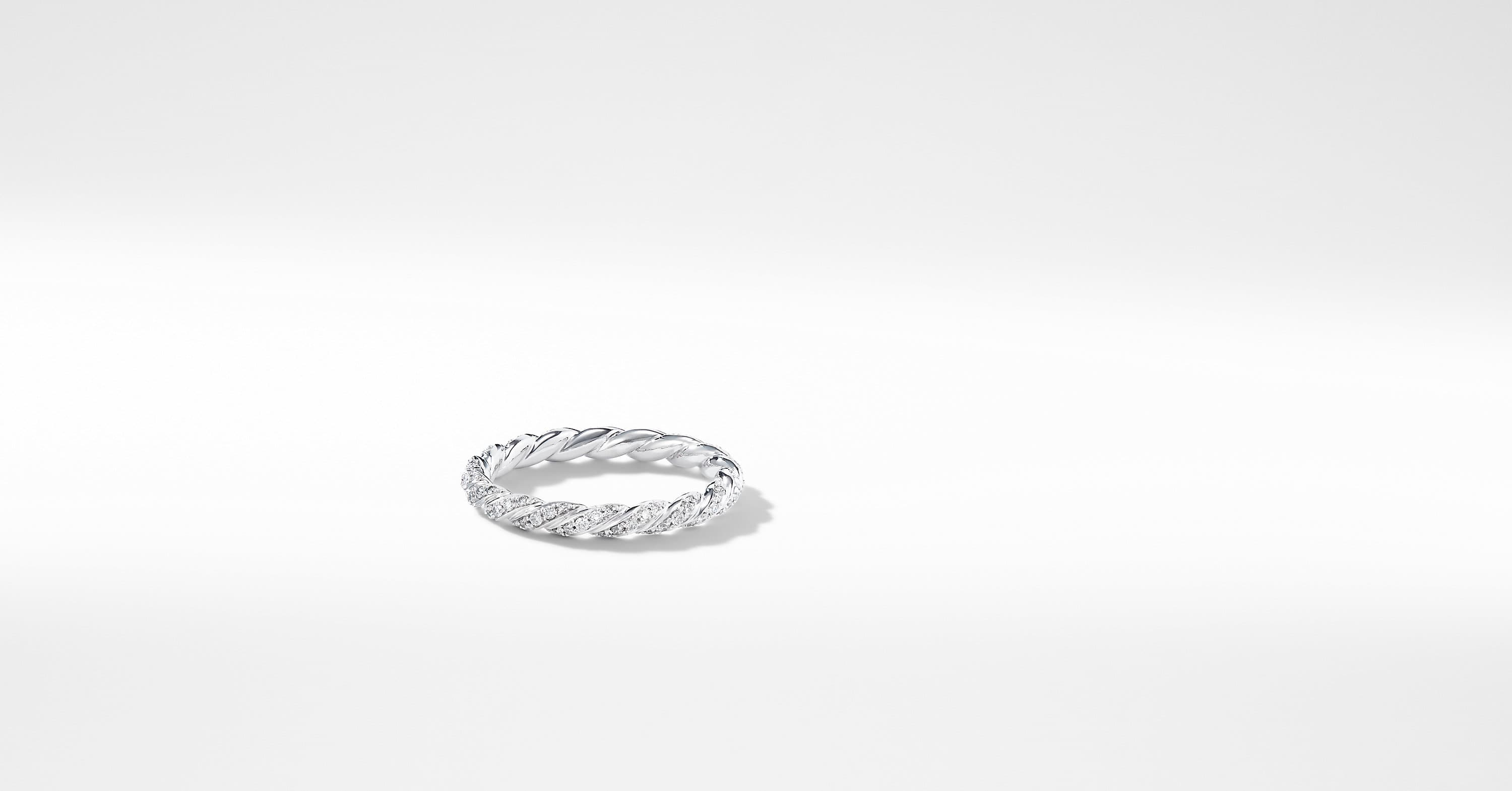 Paveflex Ring with Diamonds in 18K White Gold