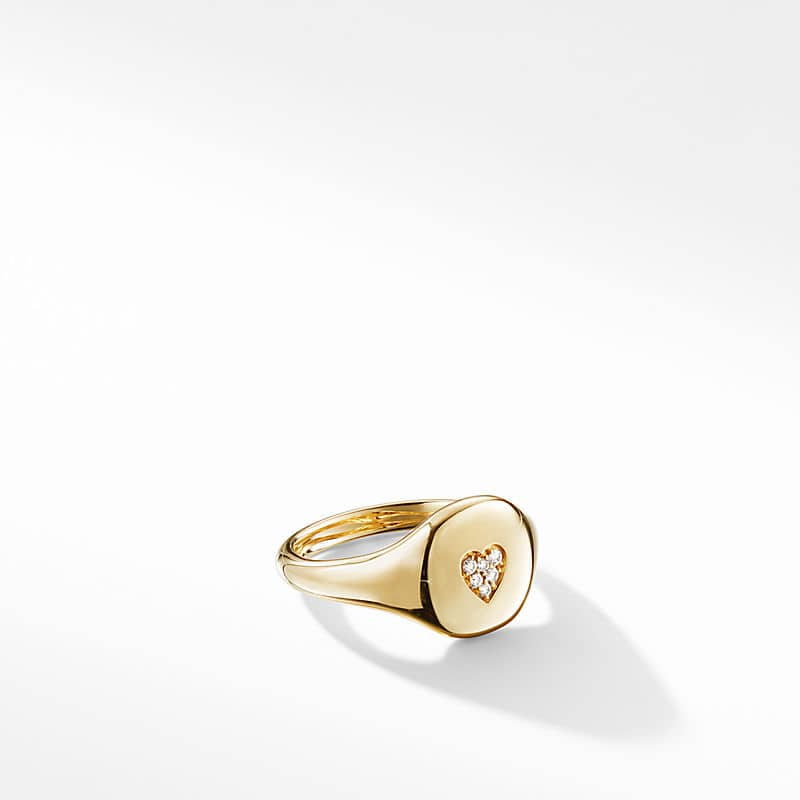 Cable Collectibles Heart Mini Pinky Ring in 18K