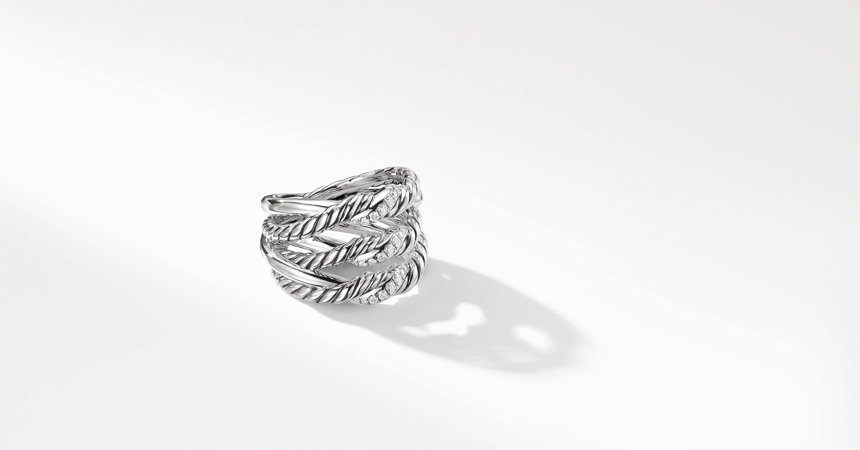 Continuance Three-Row Ring with Diamonds